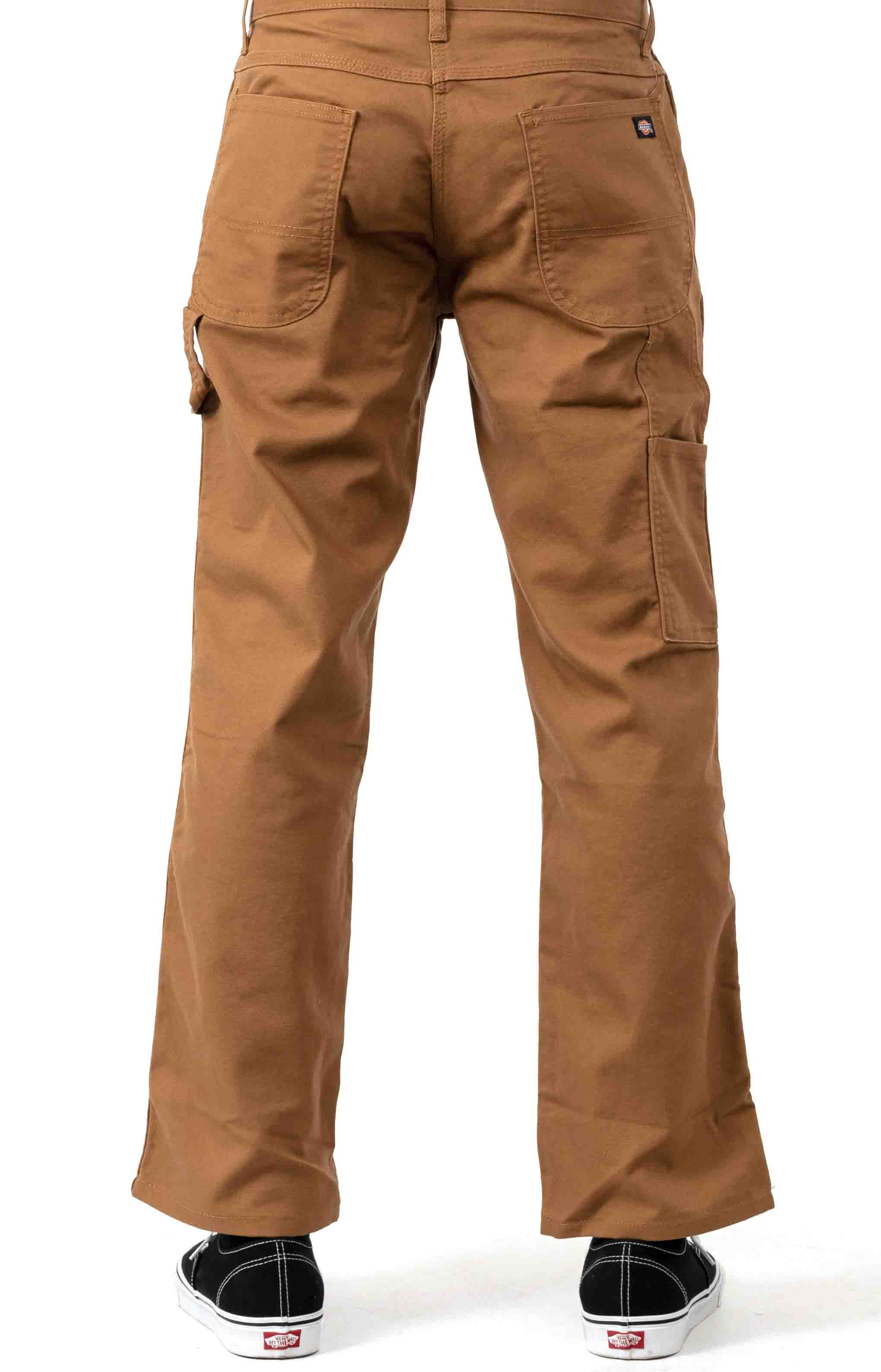 (DP901SBD) FLEX Relaxed Fit Tough Max Duck Carpenter Pants - Stonewashed Brown Duck 3