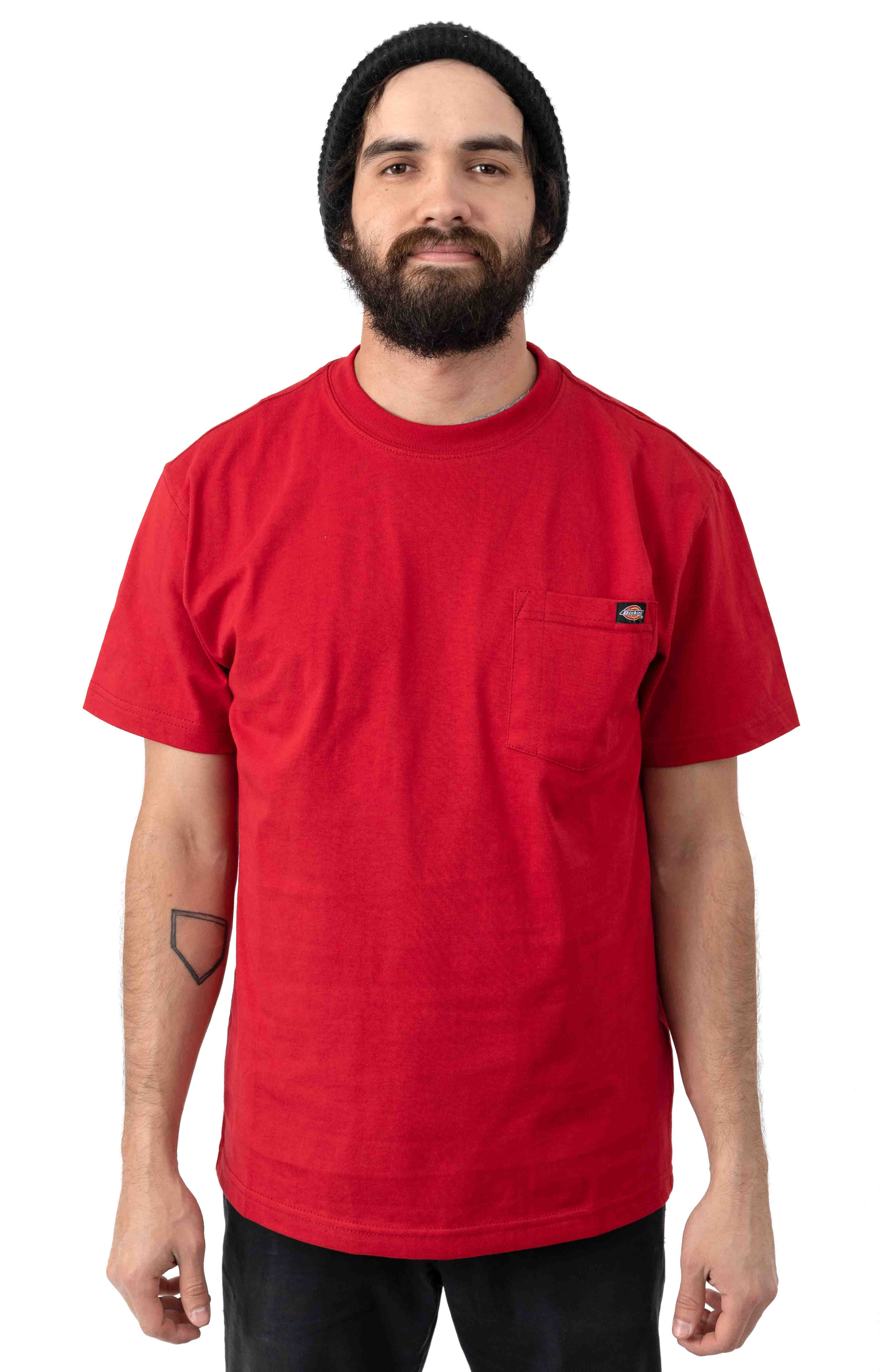 (WS450ER) S/S Heavyweight T-Shirt - English Red 1