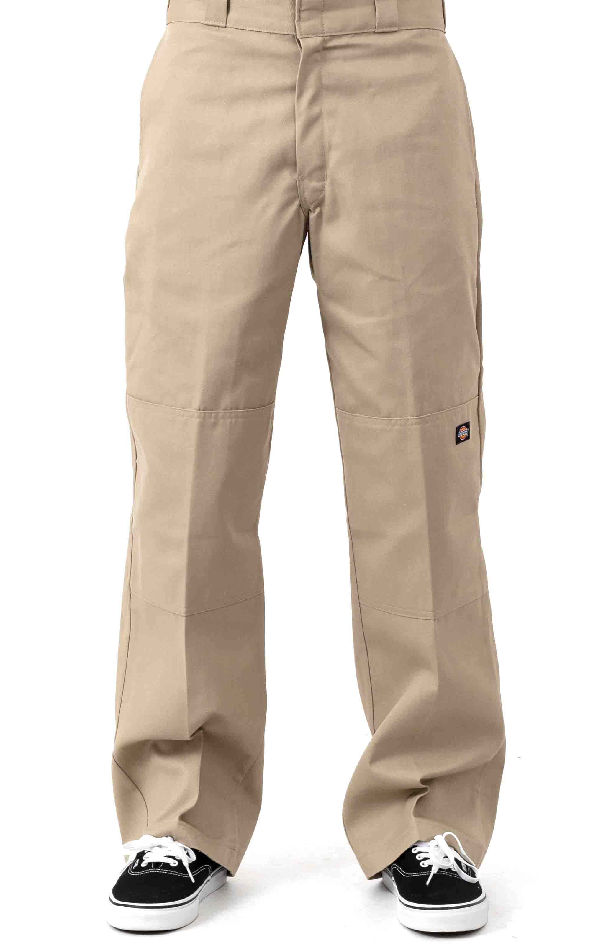 (85283KH) Loose Fit Double Knee Work Pants - Military Khaki