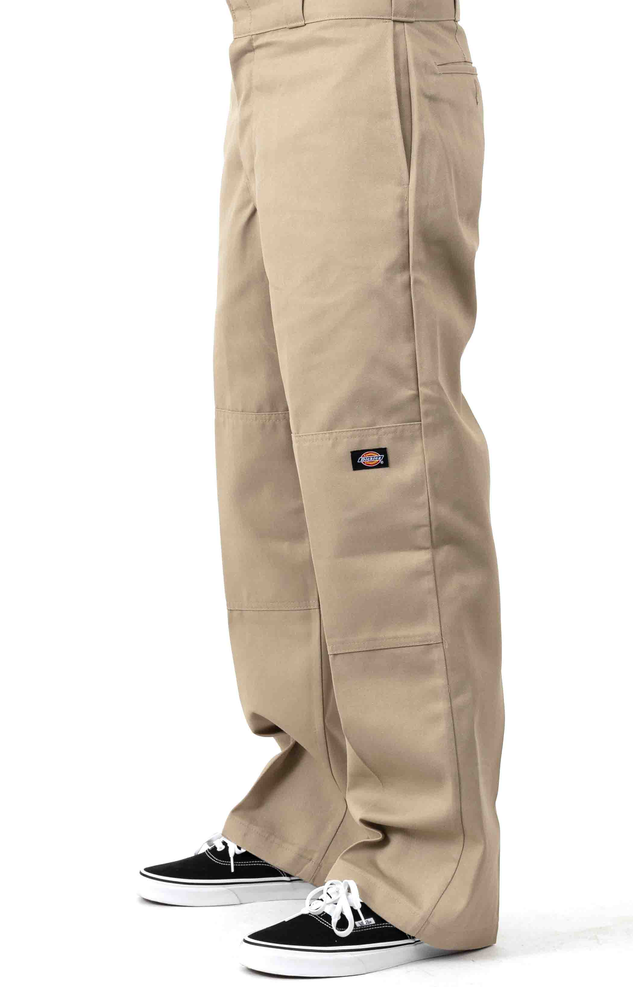 (85283KH) Loose Fit Double Knee Work Pants - Military Khaki  2