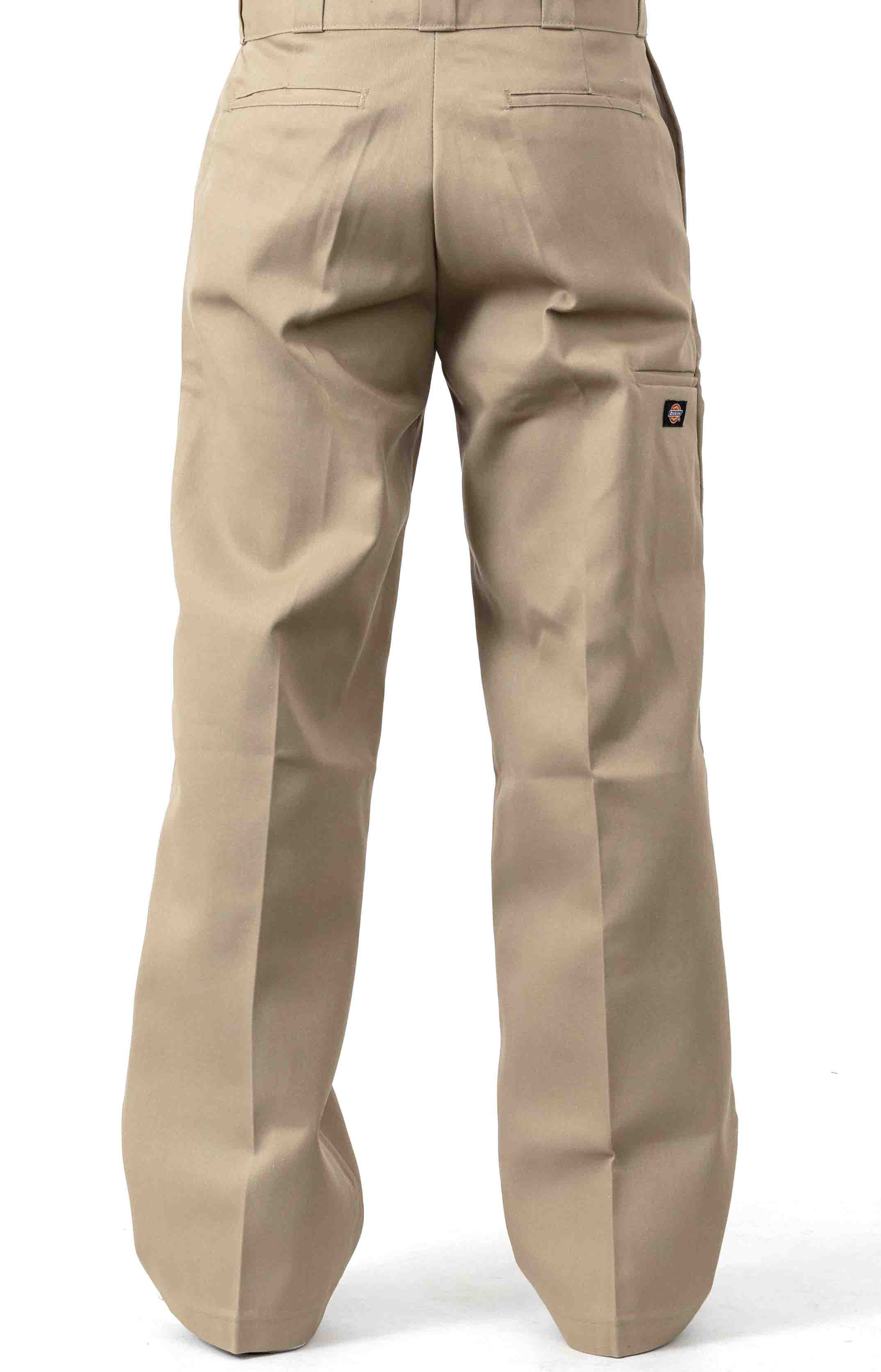 (85283KH) Loose Fit Double Knee Work Pants - Military Khaki  3