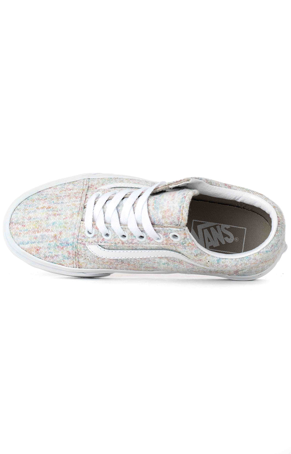 (U3BWN5) Rainbow Jersey Old Skool Shoe - Multi 2