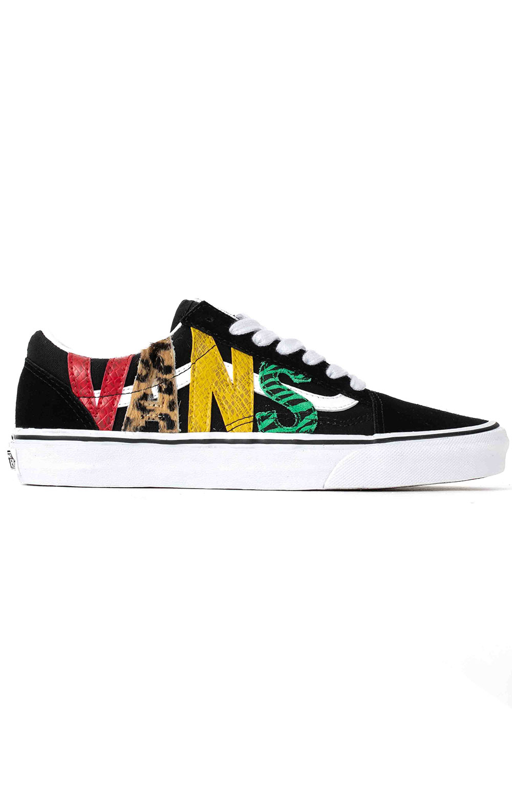 (U3BXF1) Multi Animal Old Skool Shoes - Rasta