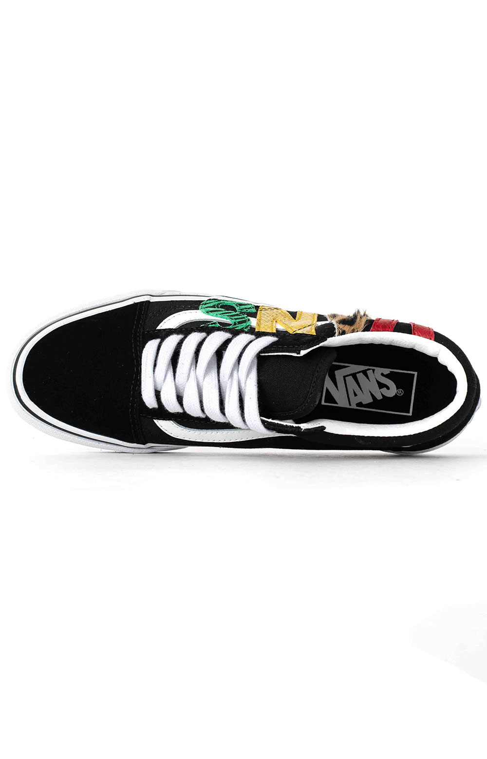 (U3BXF1) Multi Animal Old Skool Shoes - Rasta 2