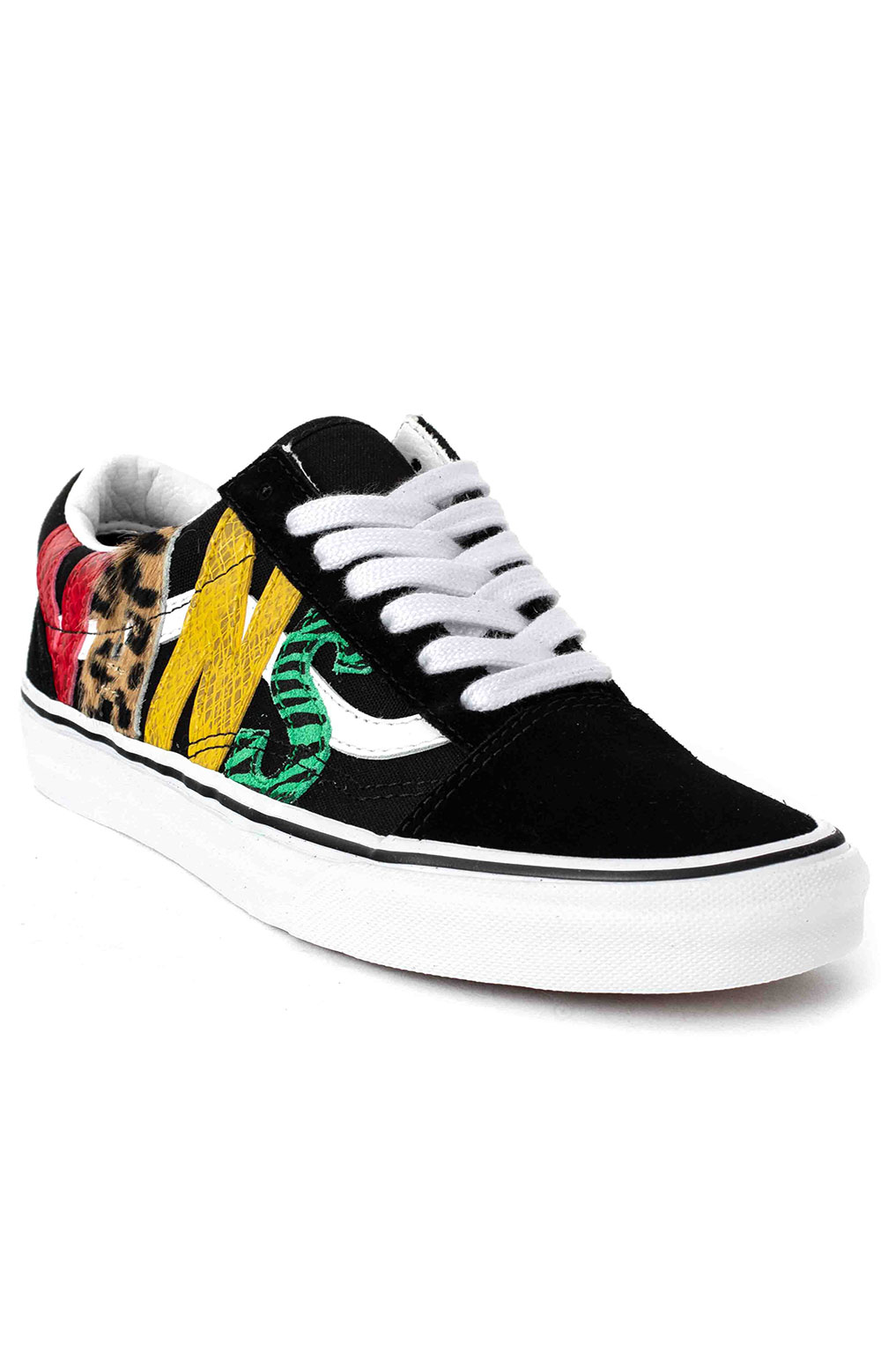 (U3BXF1) Multi Animal Old Skool Shoes - Rasta 3
