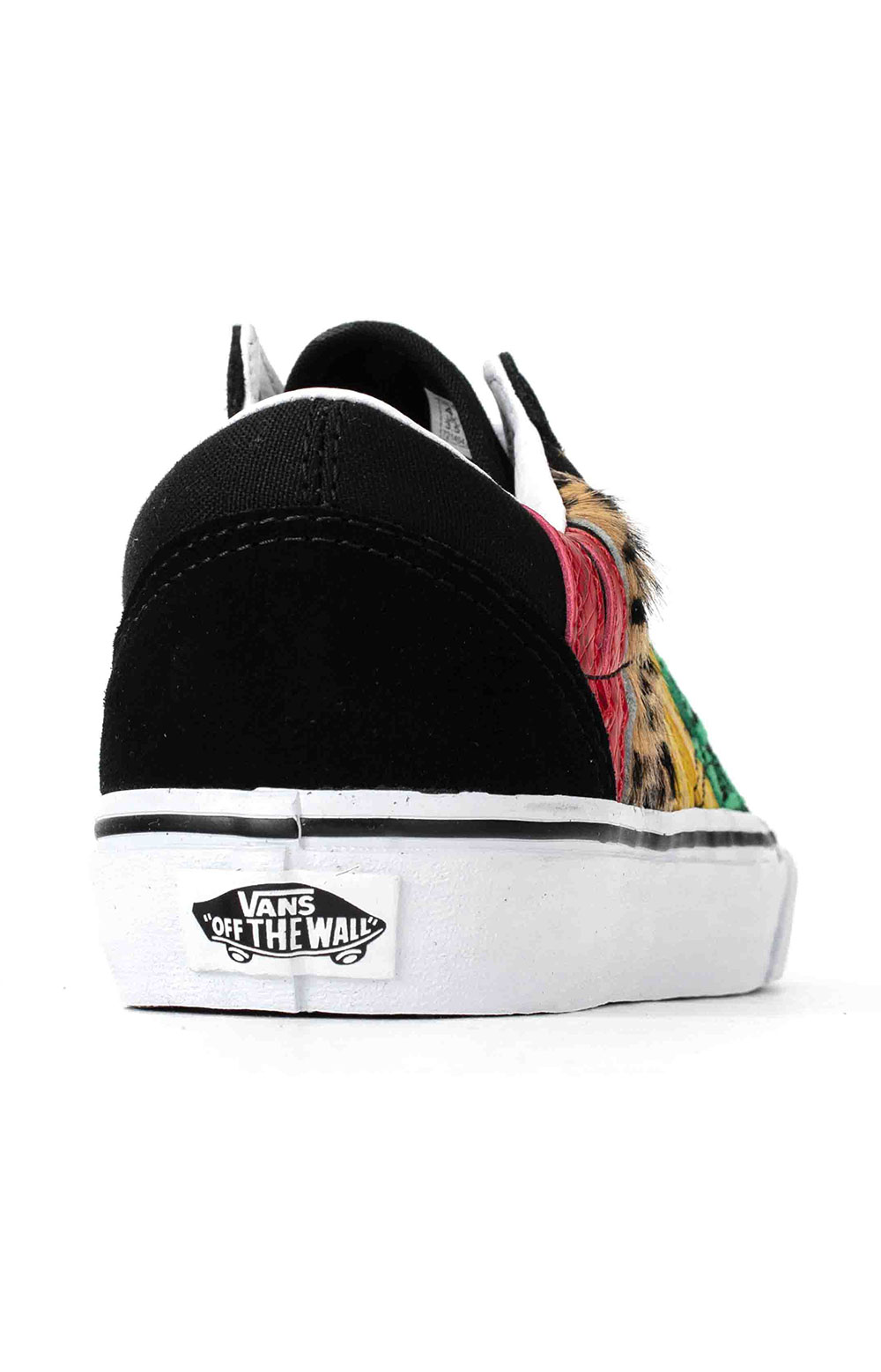 (U3BXF1) Multi Animal Old Skool Shoes - Rasta 5