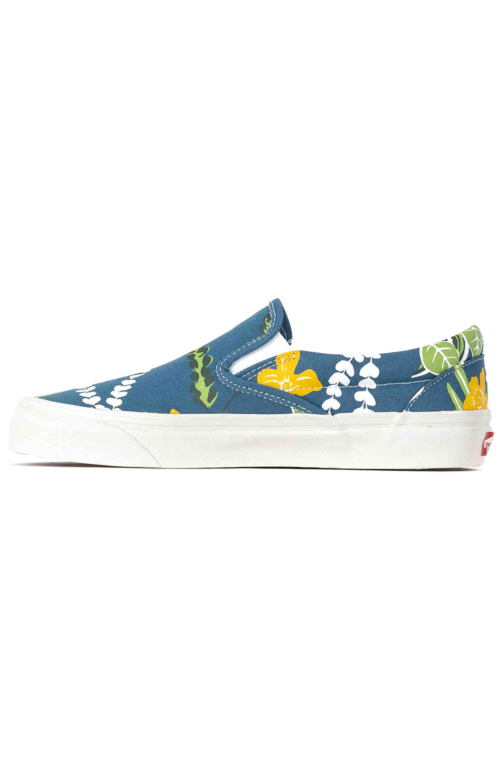 (JEXWVQ) Anaheim Factory Classic Slip-On 98 DX Shoes - OG Aloha Navy 4