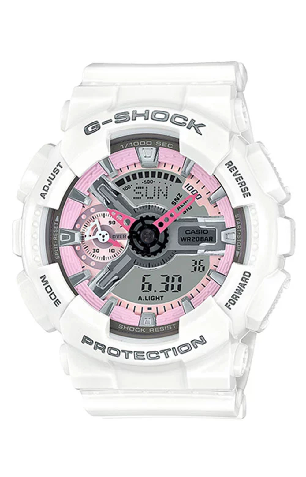 GMA-S110MP-7A S Series Watch - White/Pink
