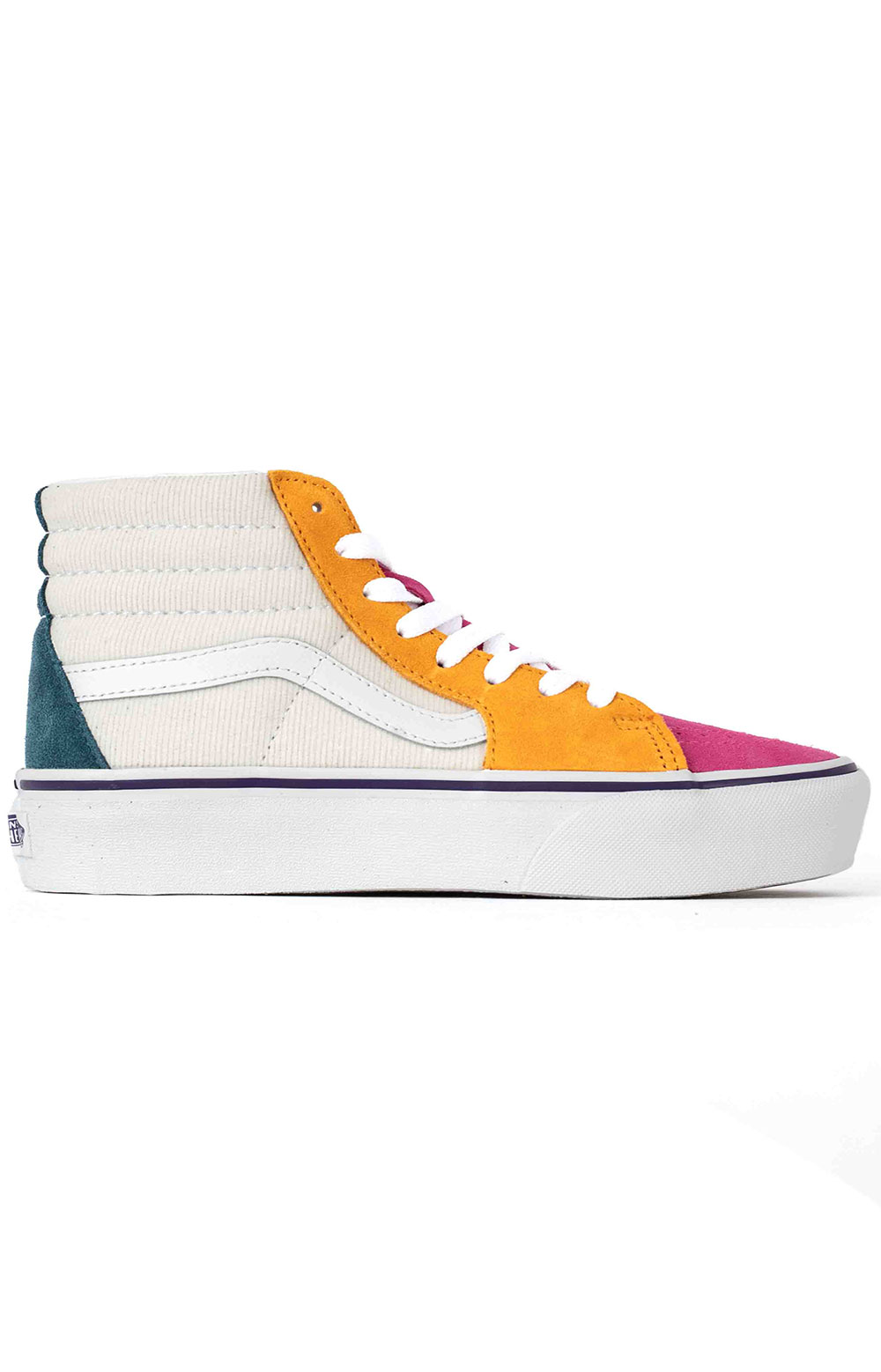 (TKNWVY) Mini Cord SK8-Hi Platform 2 Shoes - Multi/True White