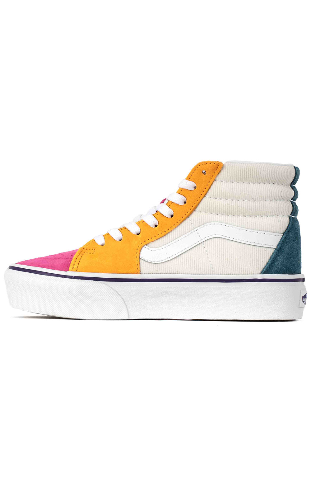 (TKNWVY) Mini Cord SK8-Hi Platform 2 Shoes - Multi/True White  4