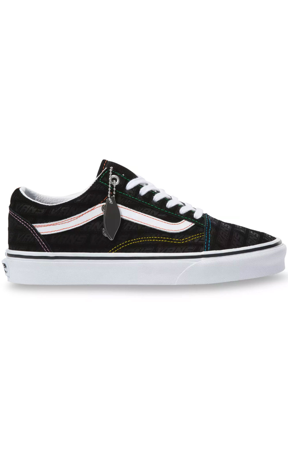 (U3BX00) Vans Emboss Old Skool Shoes - Black/True White