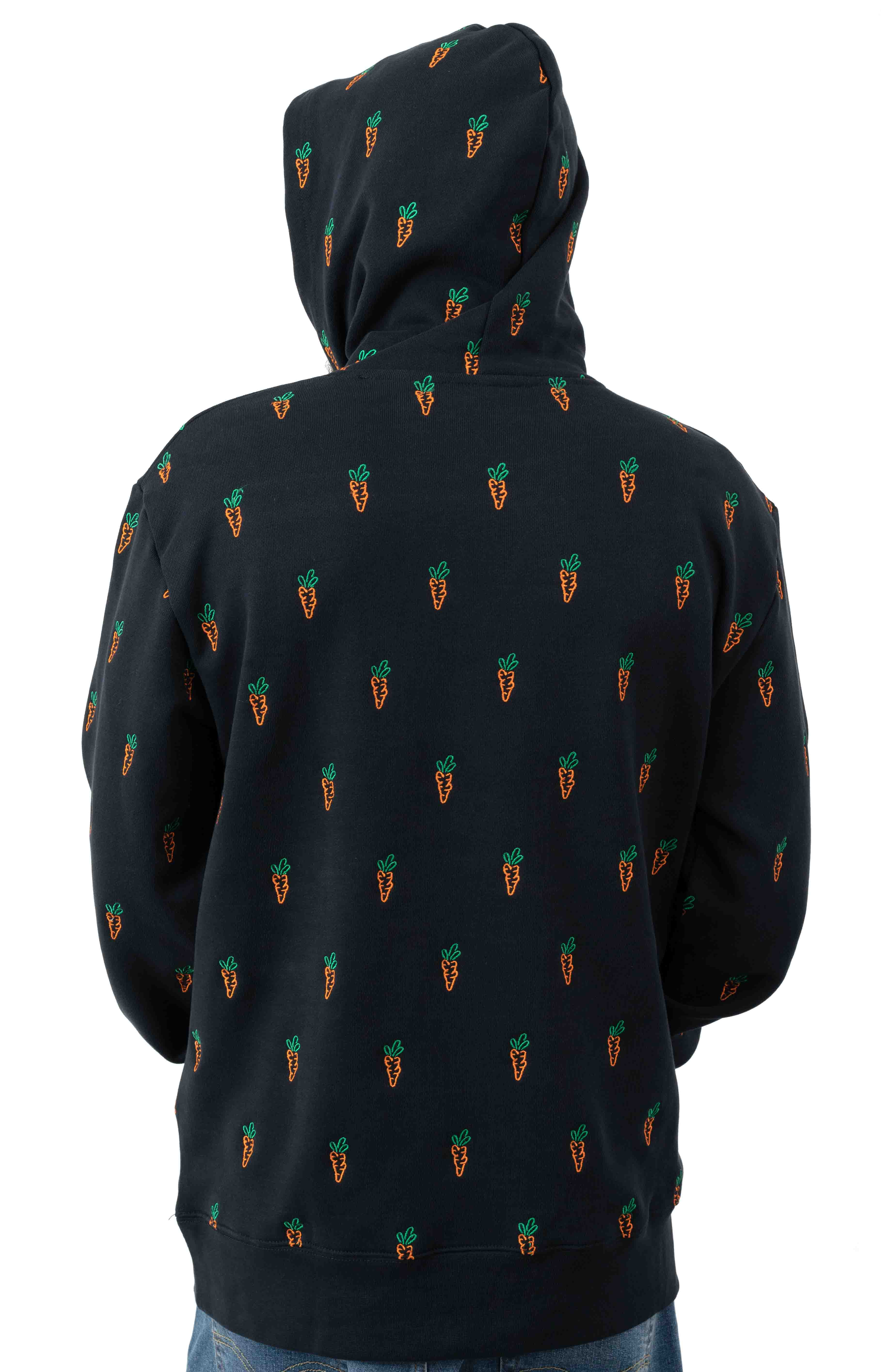 All Over Carrot Pullover Hoodie - Navy 3