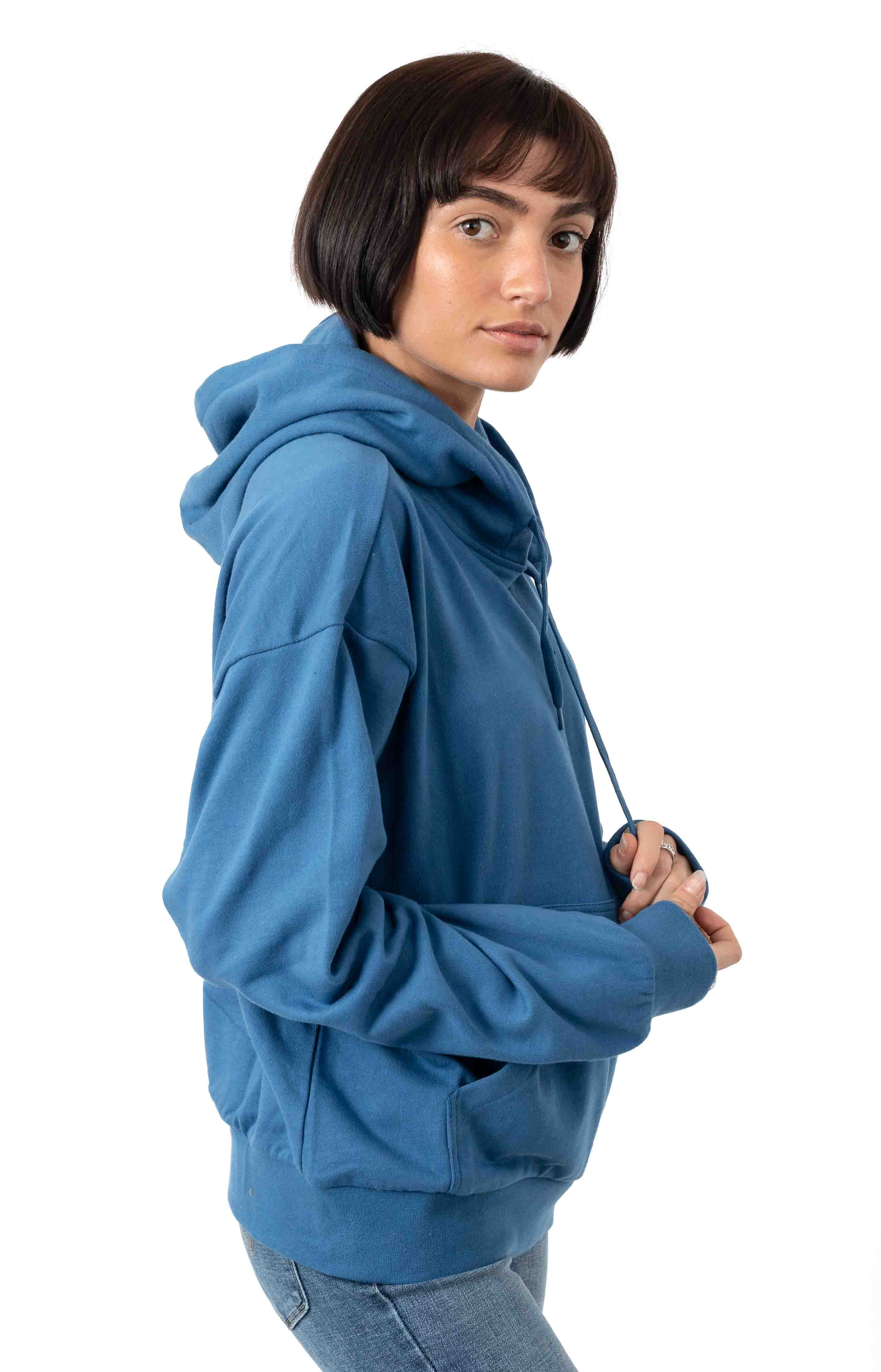 Vintage French Terry Pullover Hoodie - River Blue 2