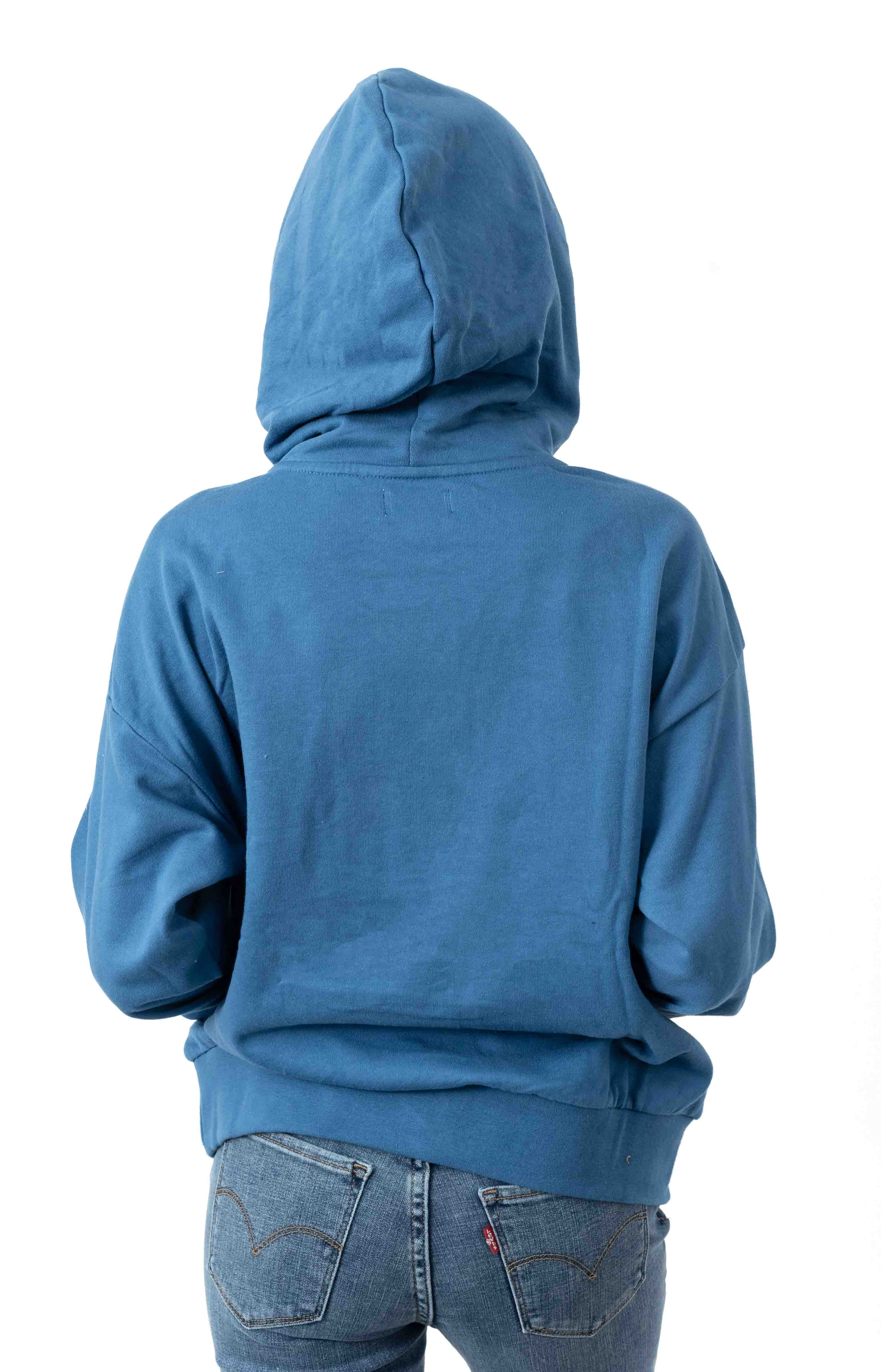 Vintage French Terry Pullover Hoodie - River Blue 3