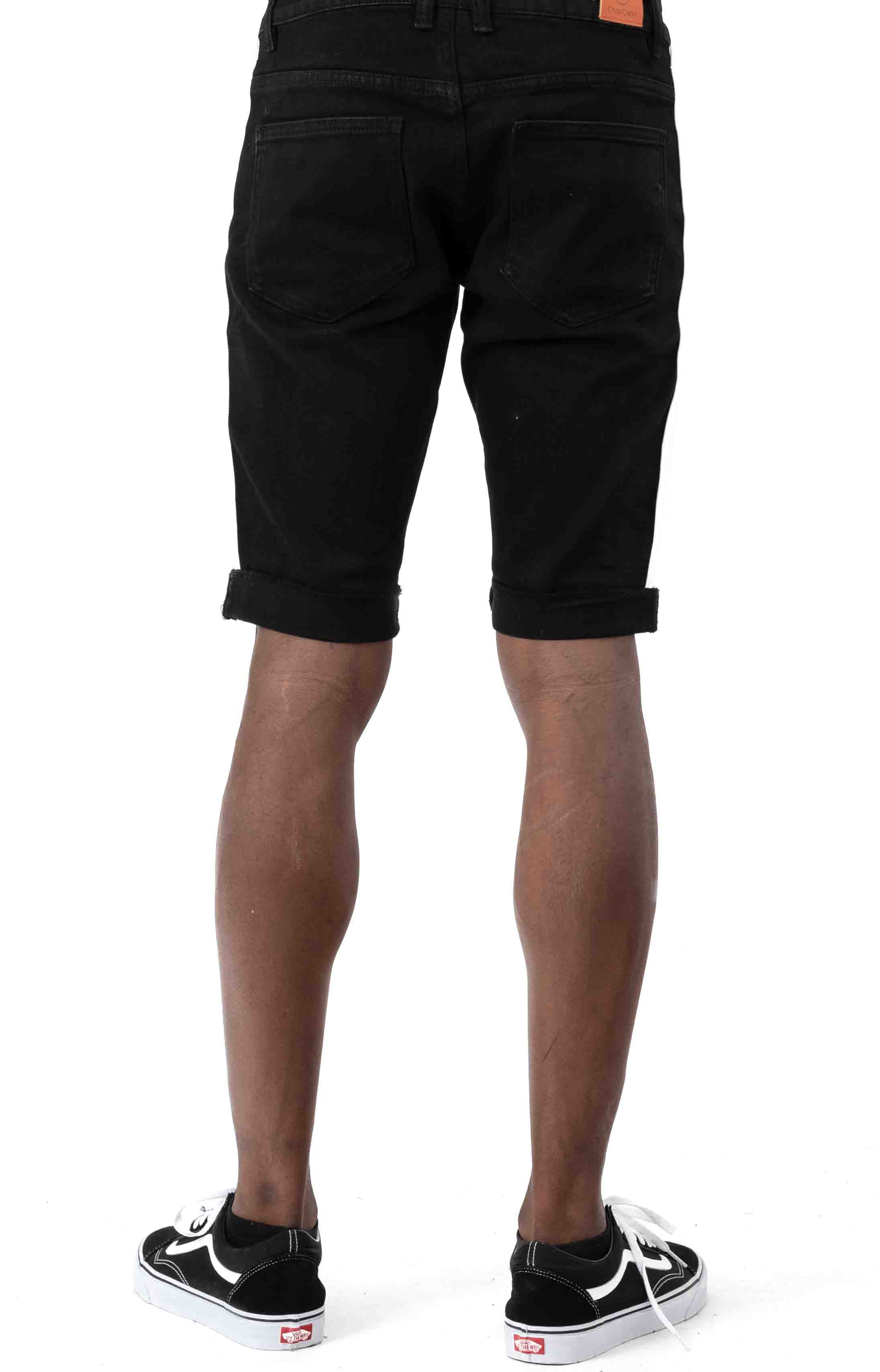(CRYSPSP220-147) Philips Denim Shorts - Black Stripe  3