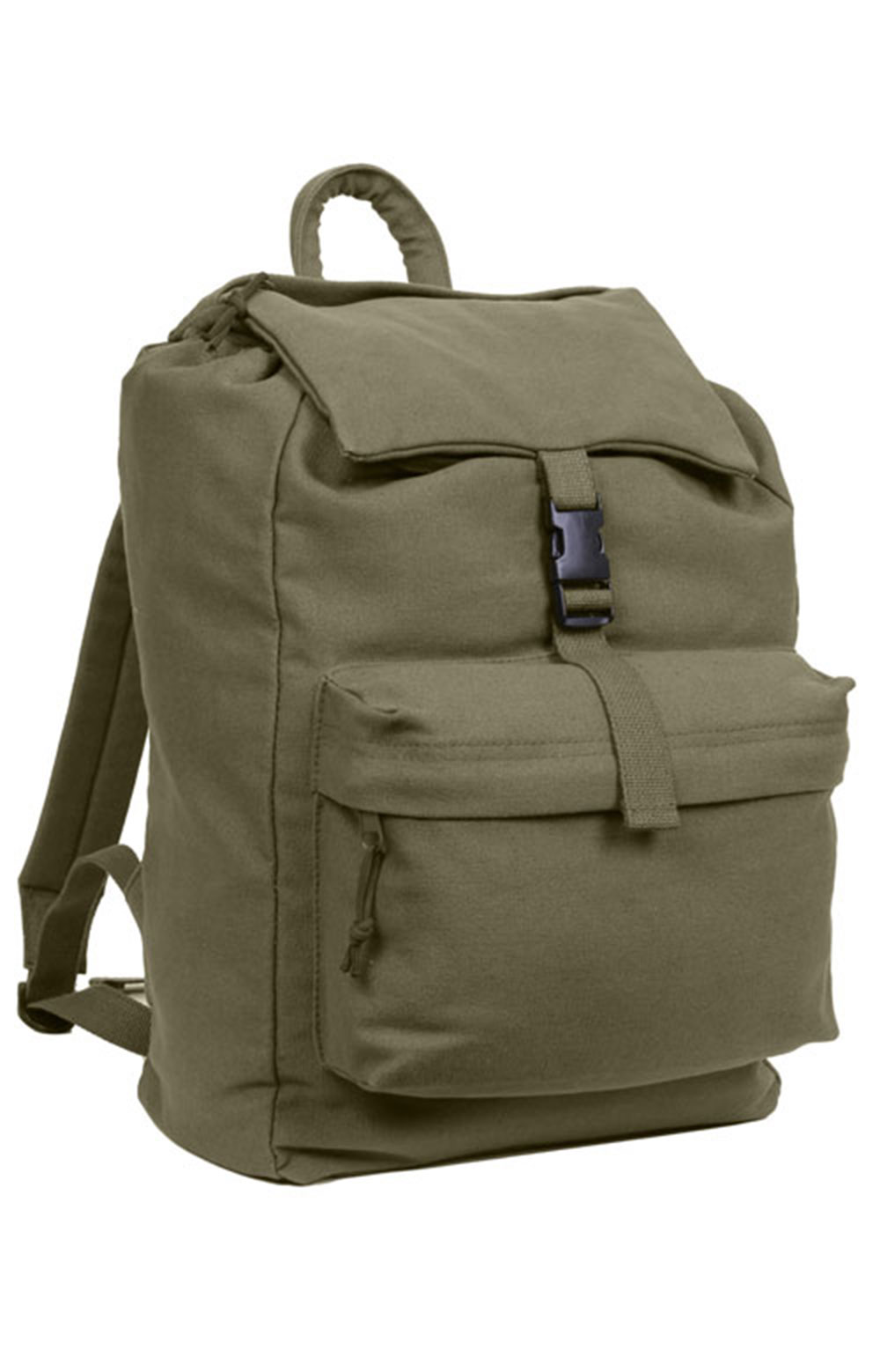 (2169) Canvas Daypack - Olive Drab