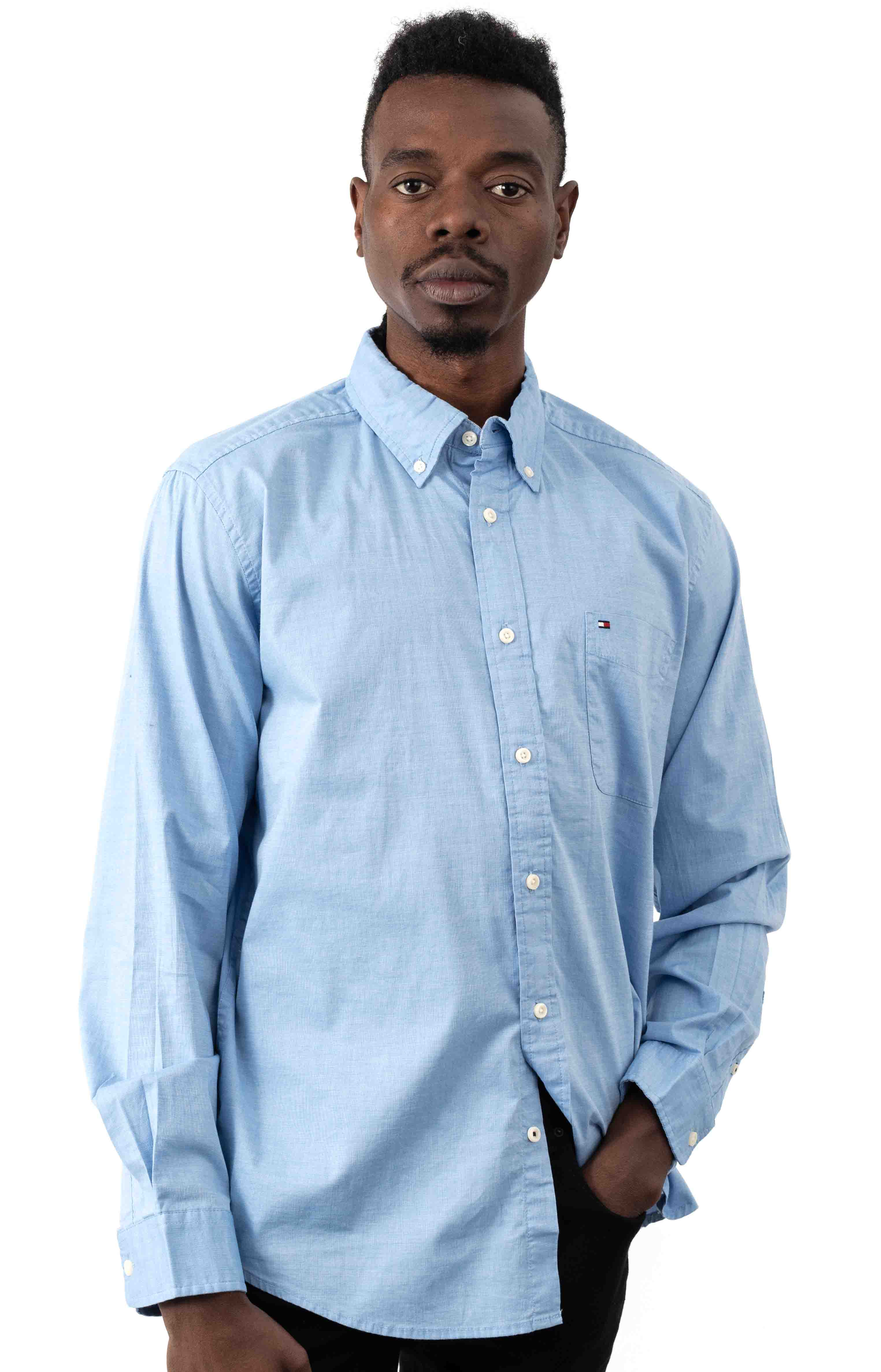 Classic Fit Essential Stretch Shirt - Collection Blue