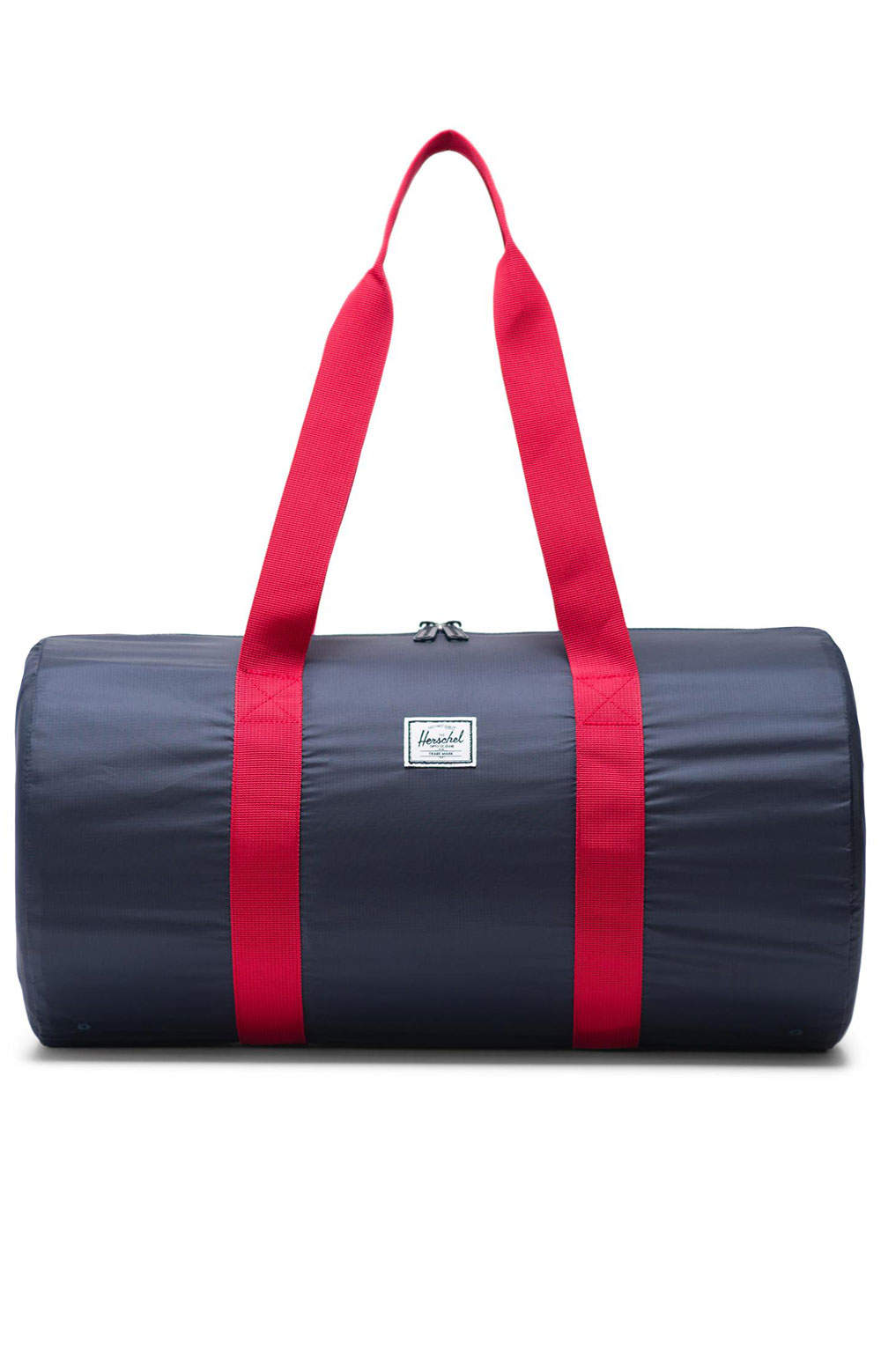 Packable Duffle Bag - Navy/Red
