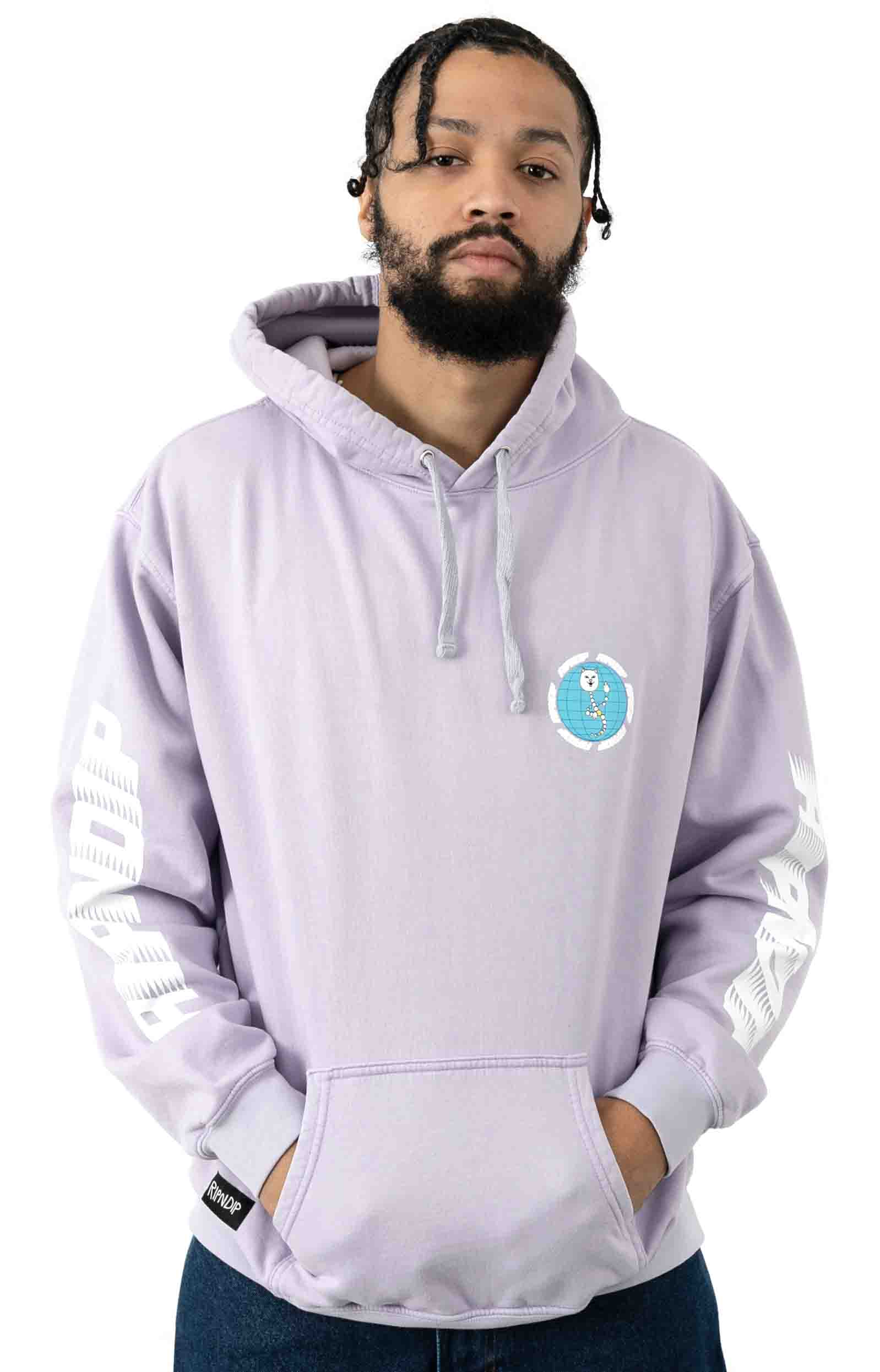 D.N.A. Pullover Hoodie - Lavender Mineral Wash 2