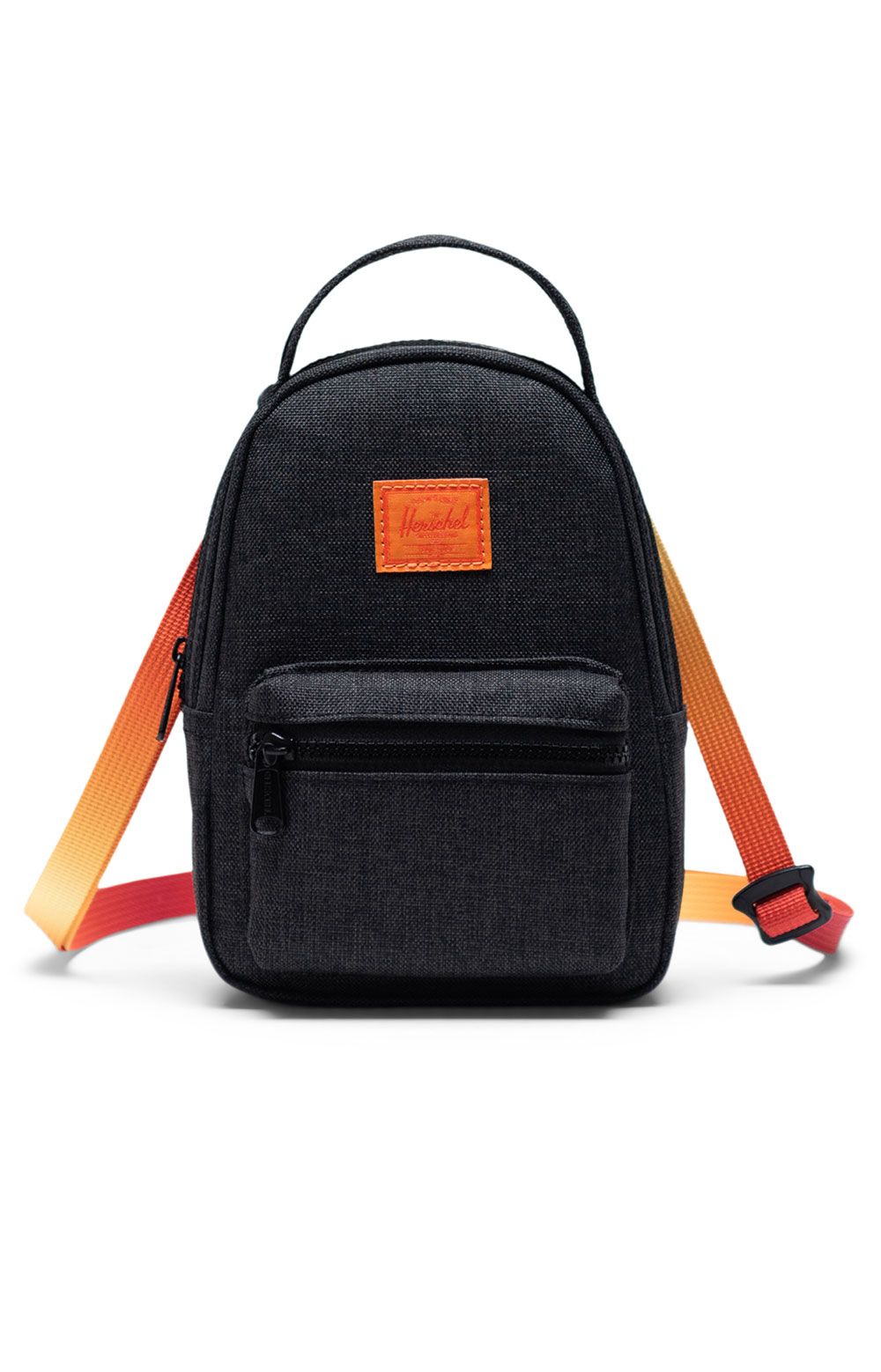 Nova Crossbody Bag - Black Crosshatch Sunset