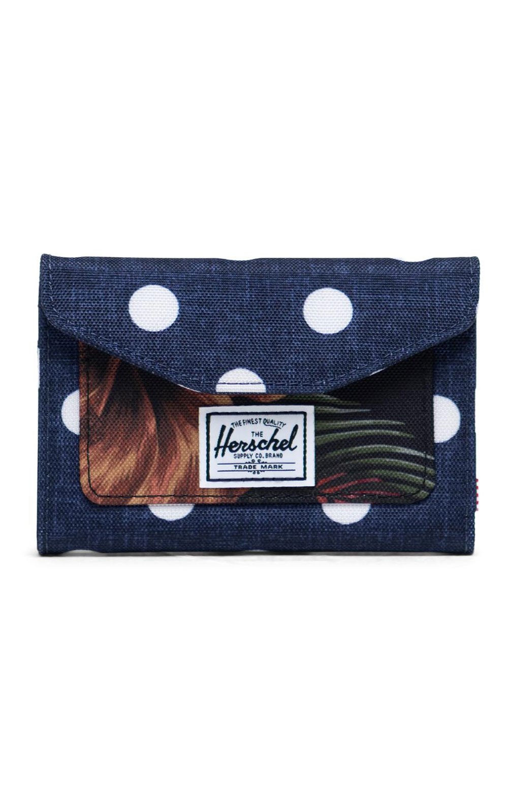 Orion Wallet - Polka Dot Crosshatch/Peacoat Small/Tropical Hibiscus