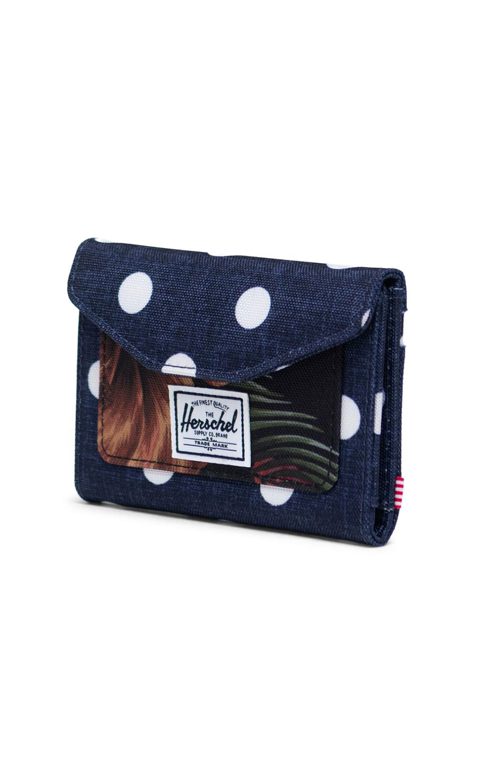 Orion Wallet - Polka Dot Crosshatch/Peacoat Small/Tropical Hibiscus 2
