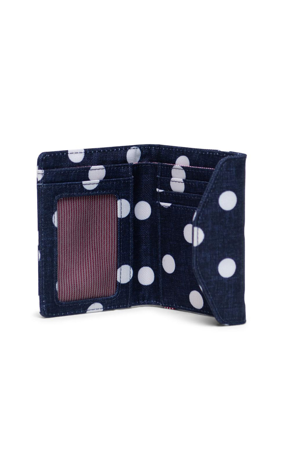Orion Wallet - Polka Dot Crosshatch/Peacoat Small/Tropical Hibiscus 4