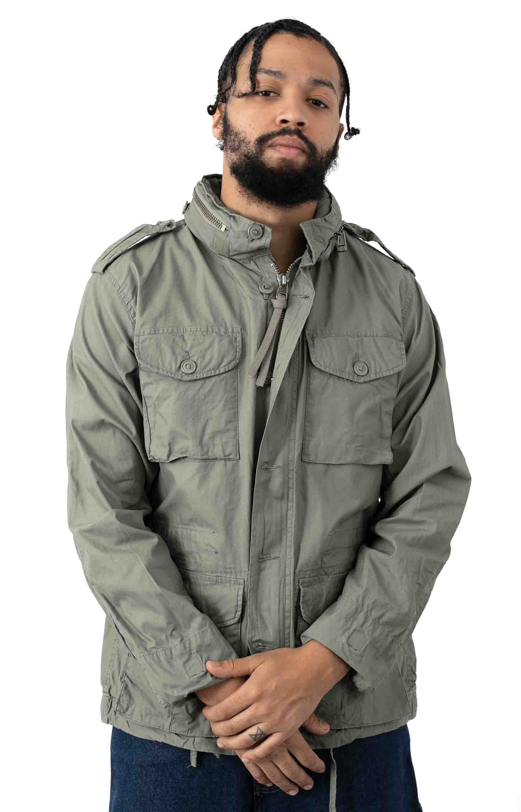 (8731) Vintage Lightweight M-65 Field Jacket - Sage Green