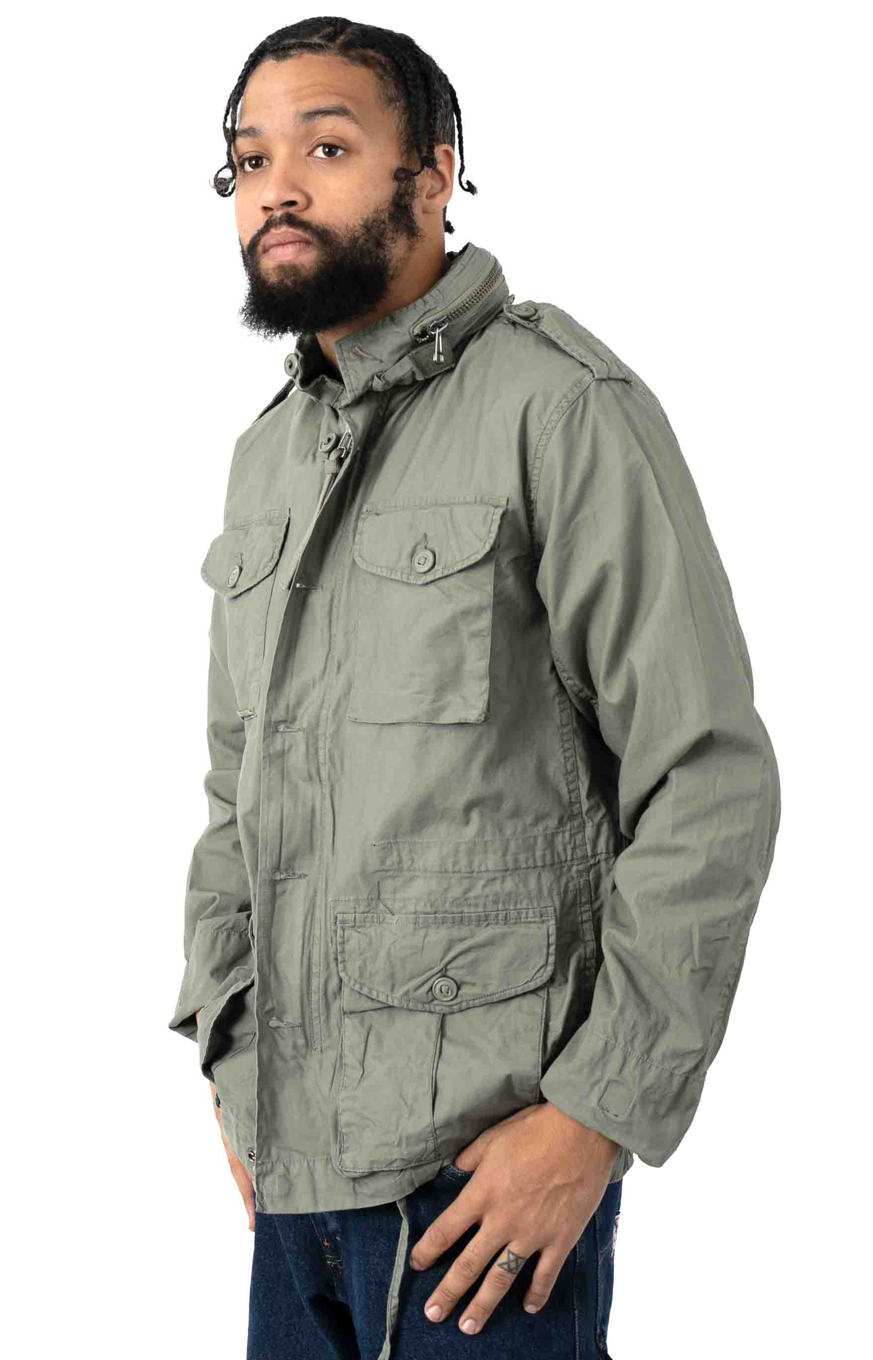 (8731) Vintage Lightweight M-65 Field Jacket - Sage Green  2
