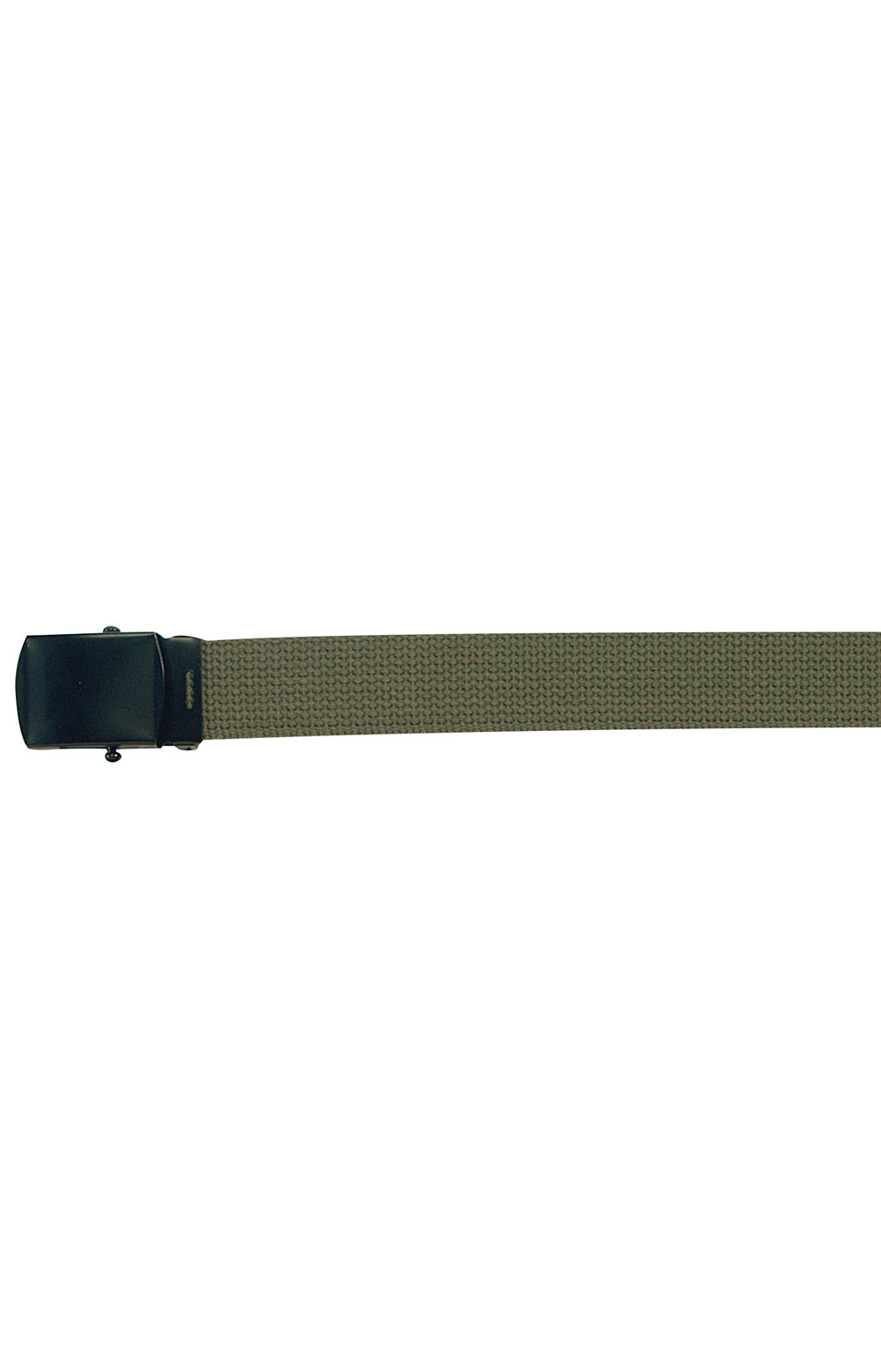 (4294) Military Web Belt With Black Buckle - Olive Drab