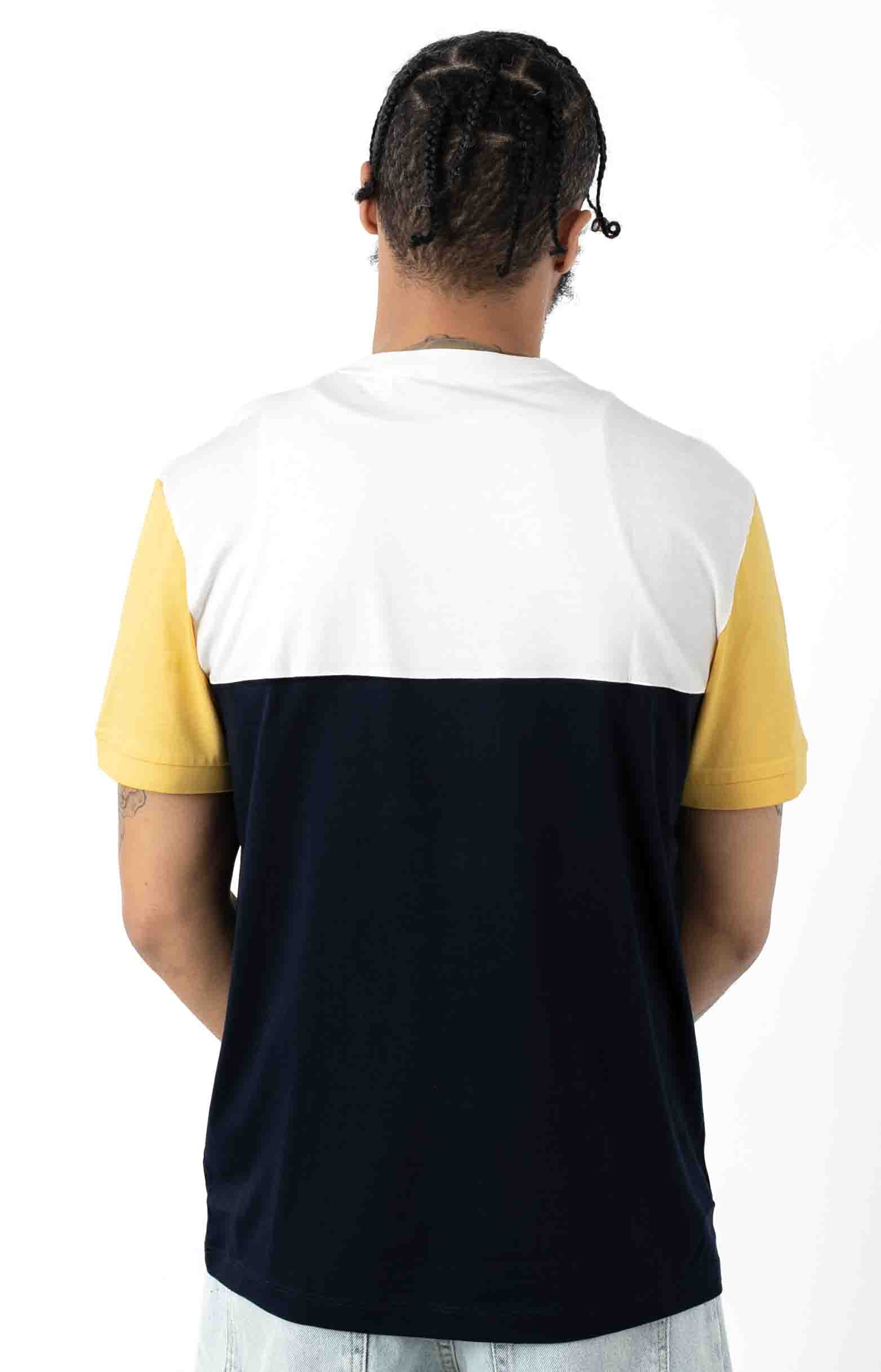 Colorblock Regular Fit Cotton Jersey T-Shirt - Navy Blue/White 3