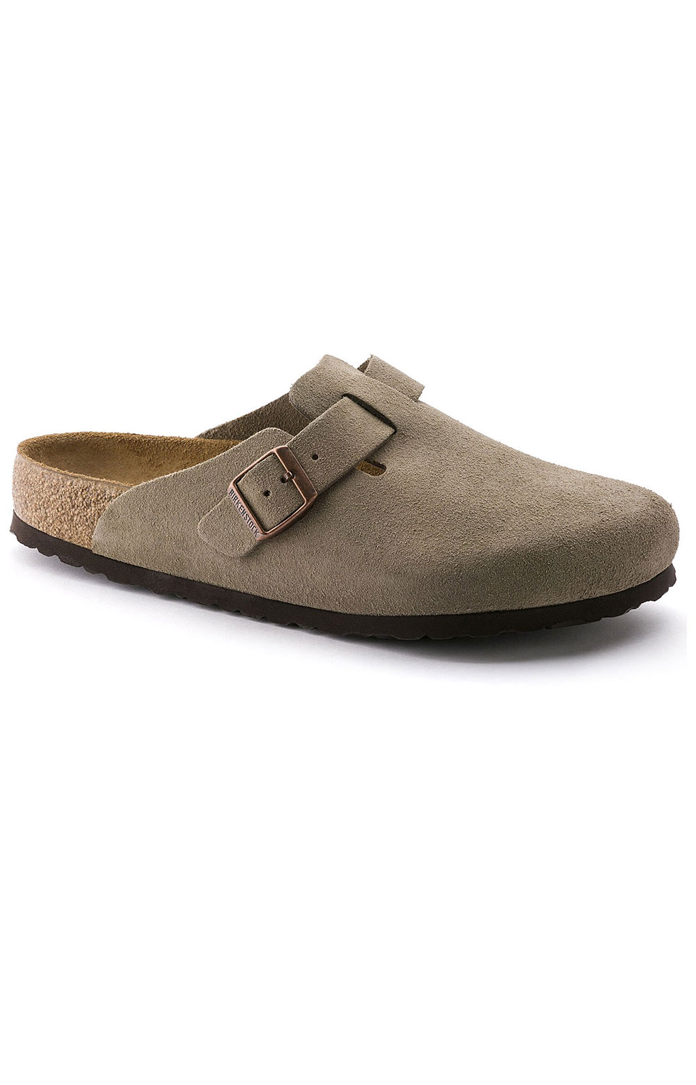 (0560771)Boston Soft Footbed Sandals - Taupe Suede  2