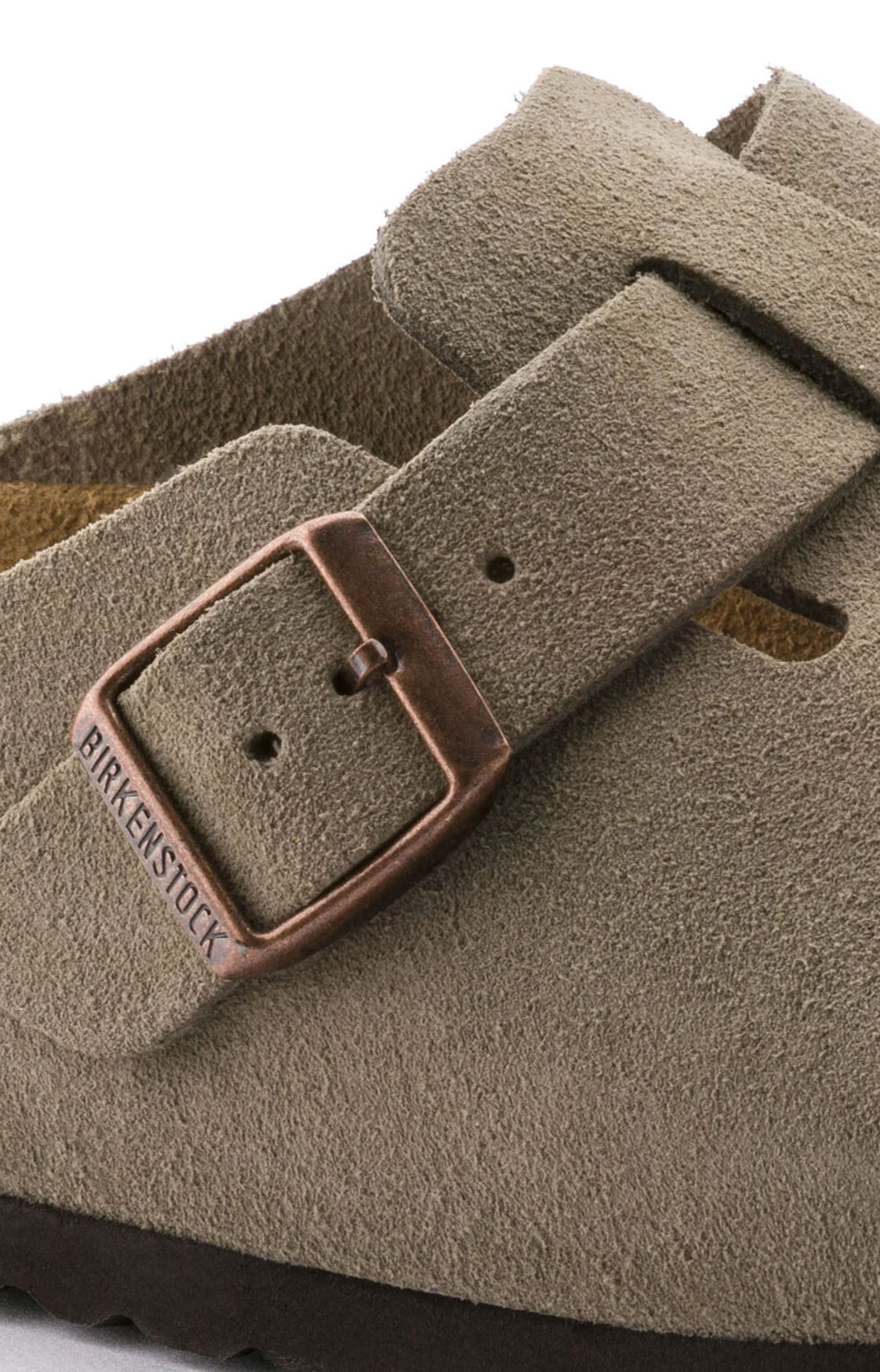 (0560771)Boston Soft Footbed Sandals - Taupe Suede  3