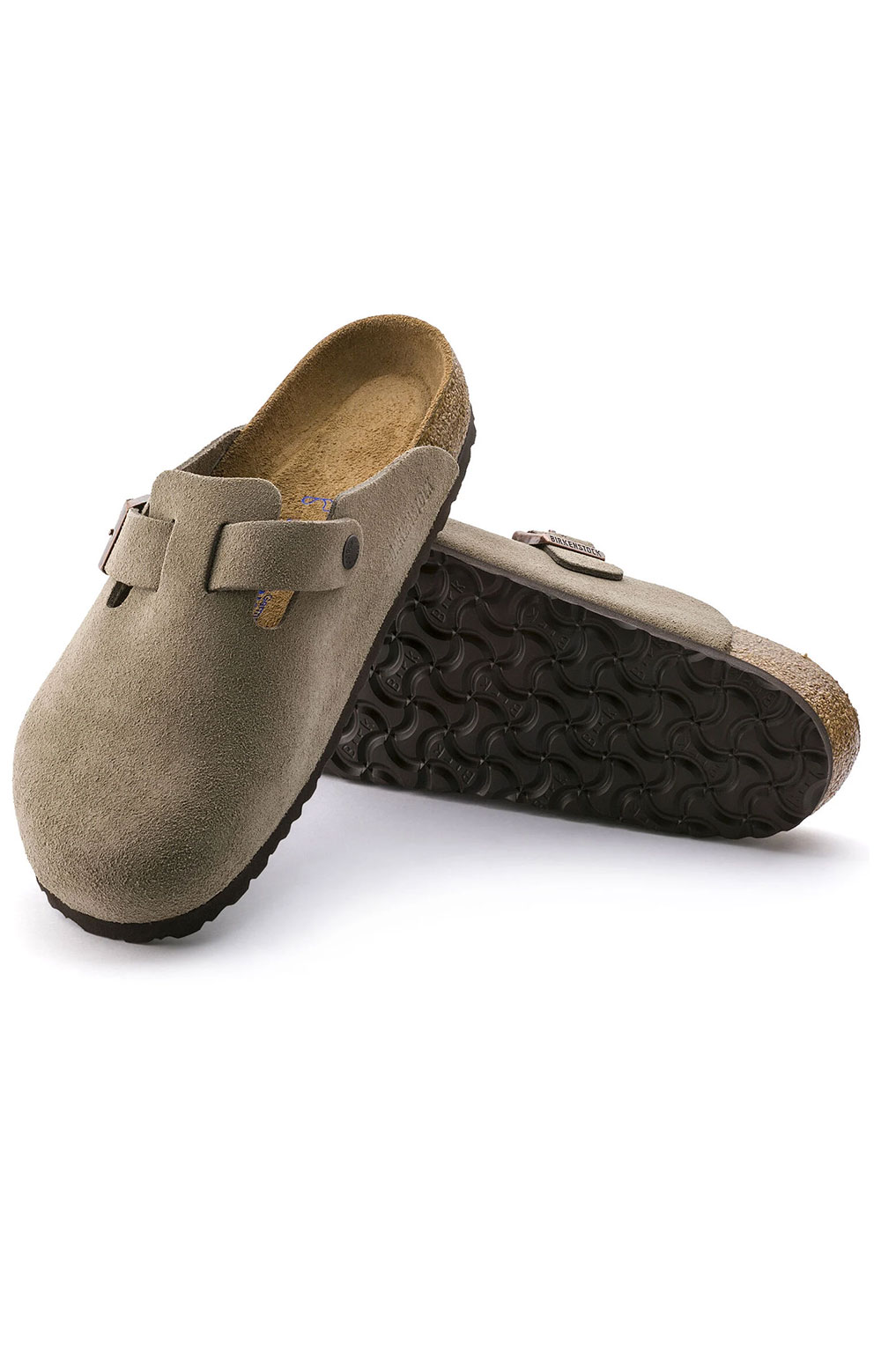 (0560771)Boston Soft Footbed Sandals - Taupe Suede  5