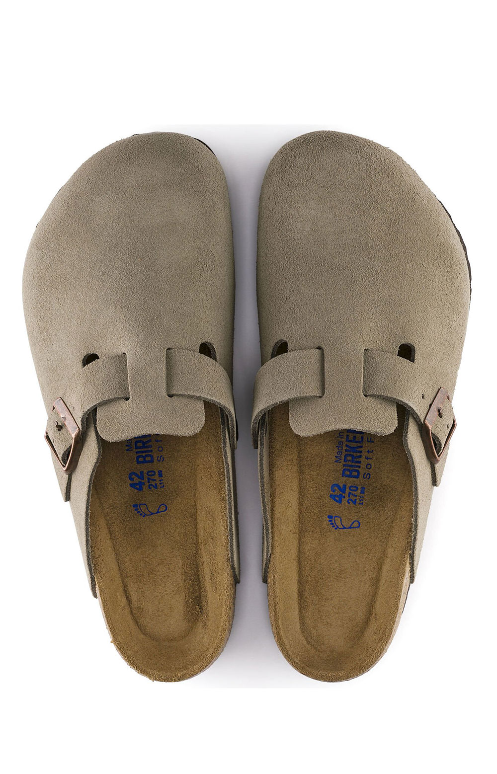 (0560771)Boston Soft Footbed Sandals - Taupe Suede  6