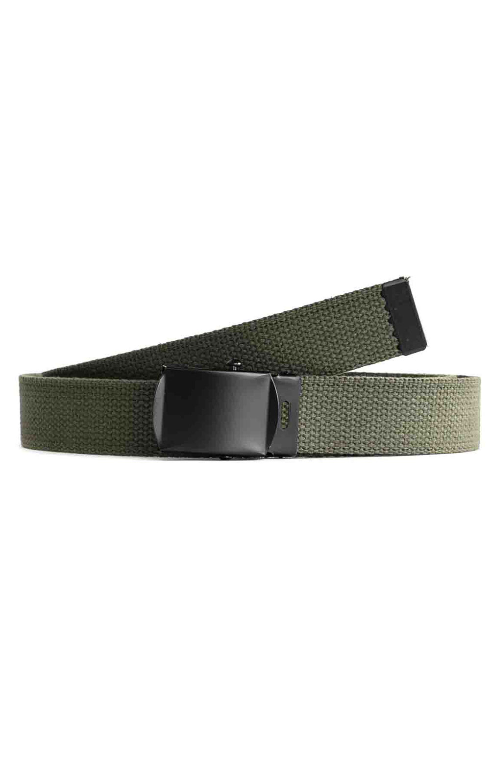 (4294) Military Web Belt With Black Buckle - Olive Drab 2