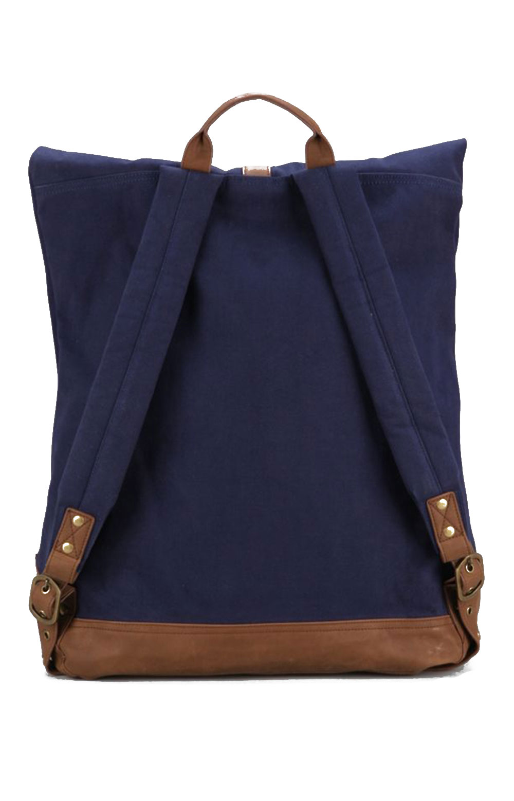 Uptown Roll Top Backpack - Navy 2