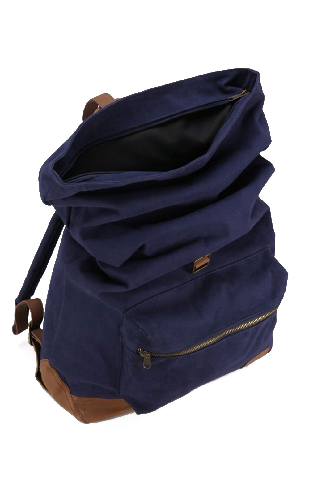 Uptown Roll Top Backpack - Navy 3