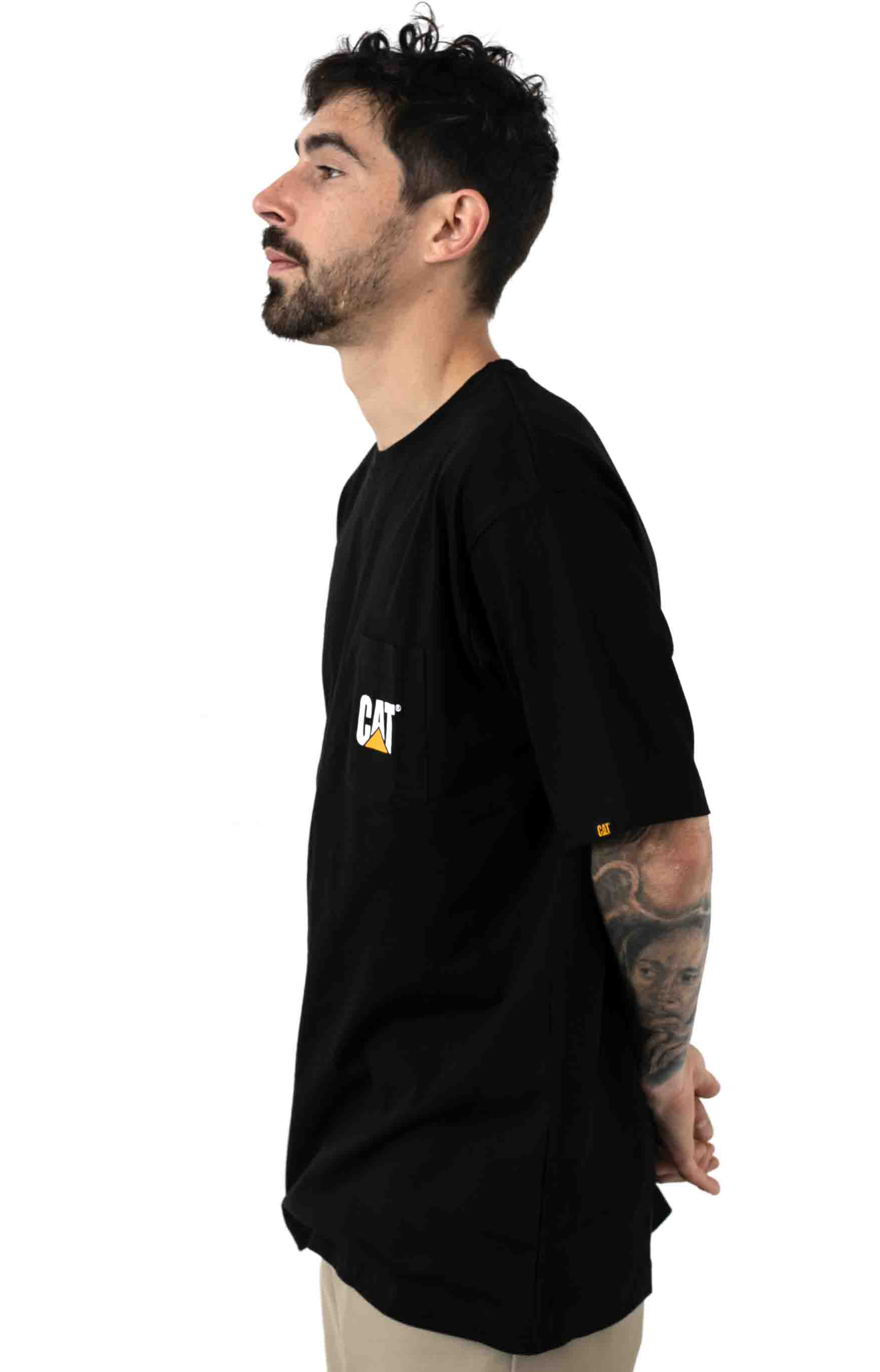 Logo Pocket T-Shirt - Black 2
