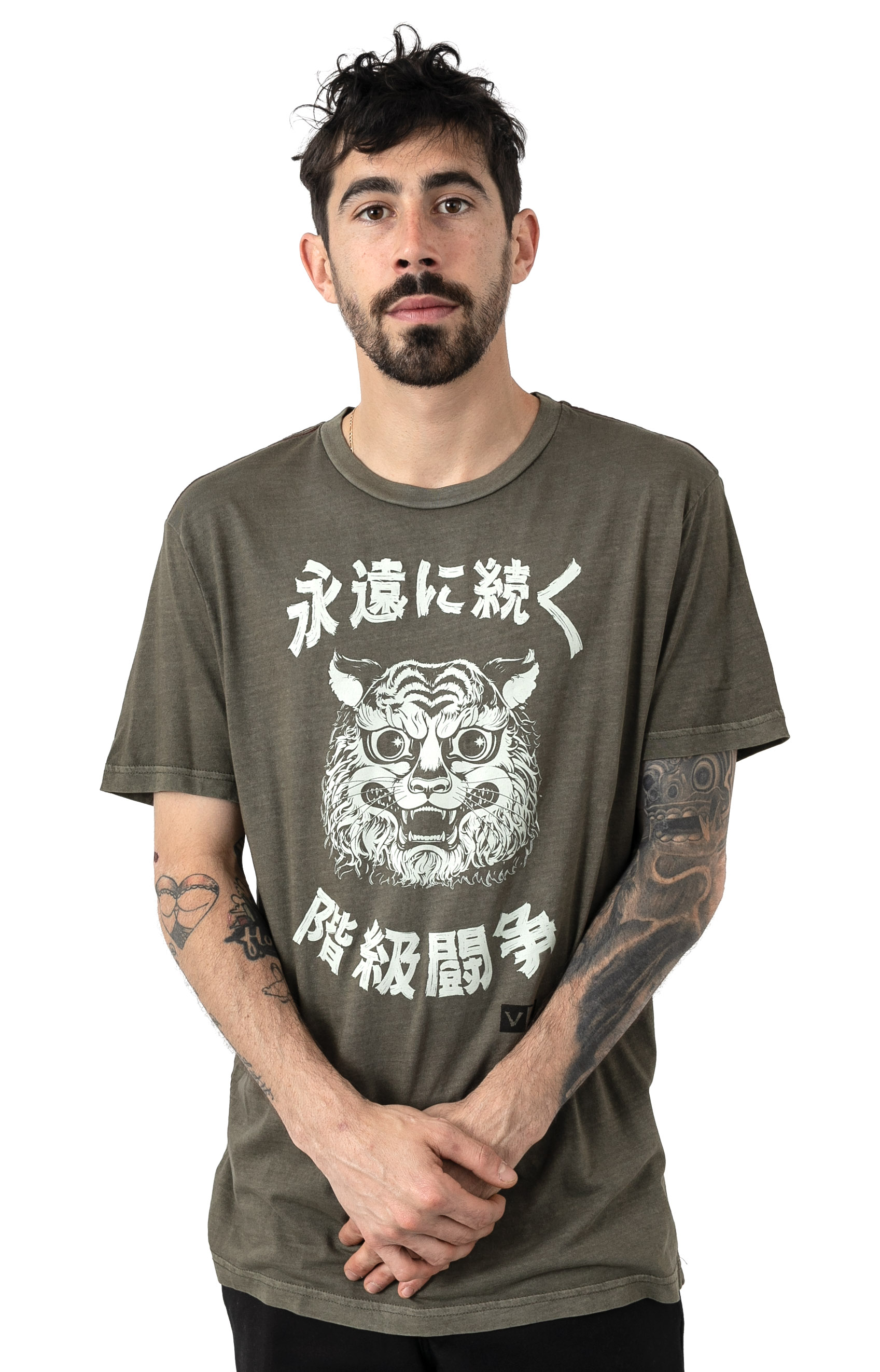 Tiger Stare T-Shirt - Olive