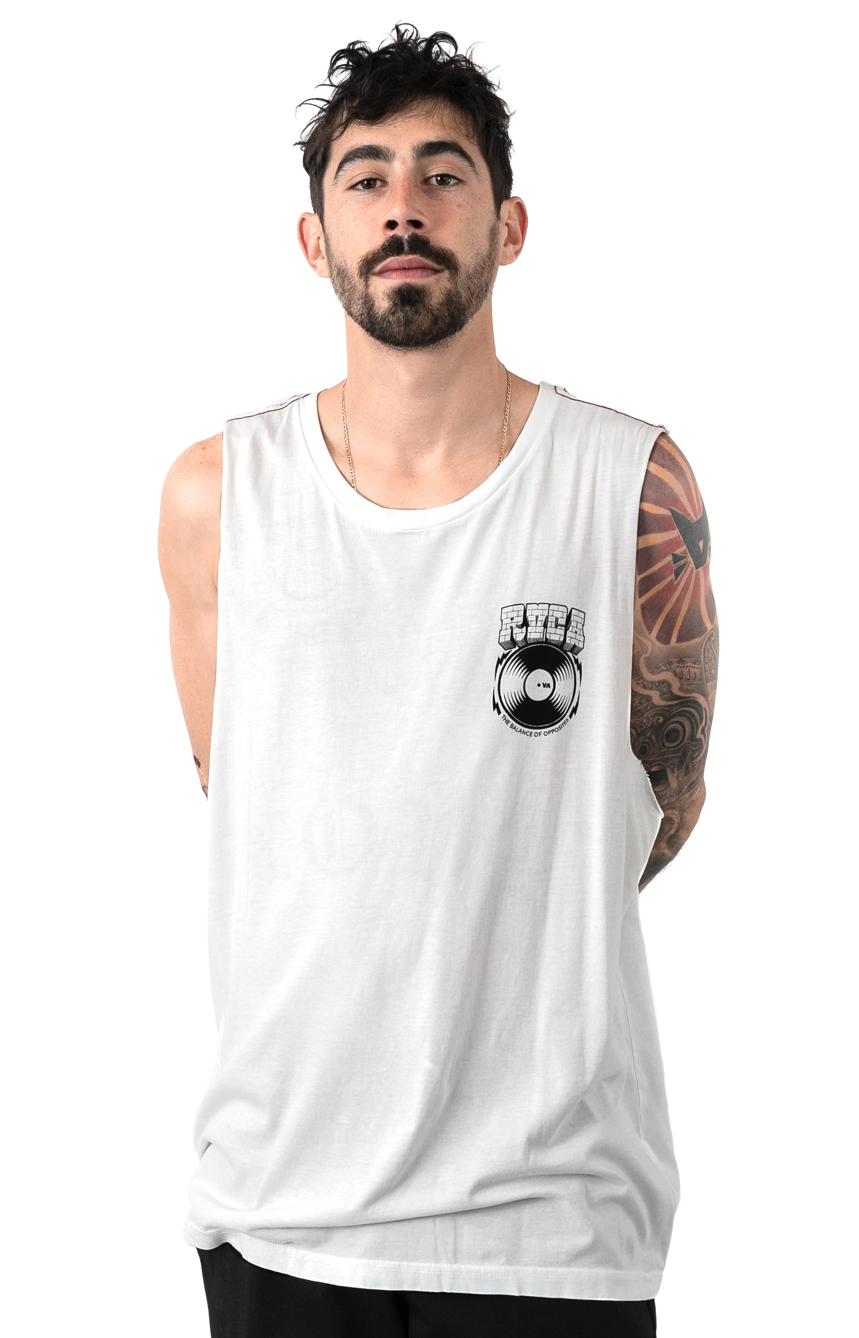 Cobra Muscle Tank Top - Antique White  2