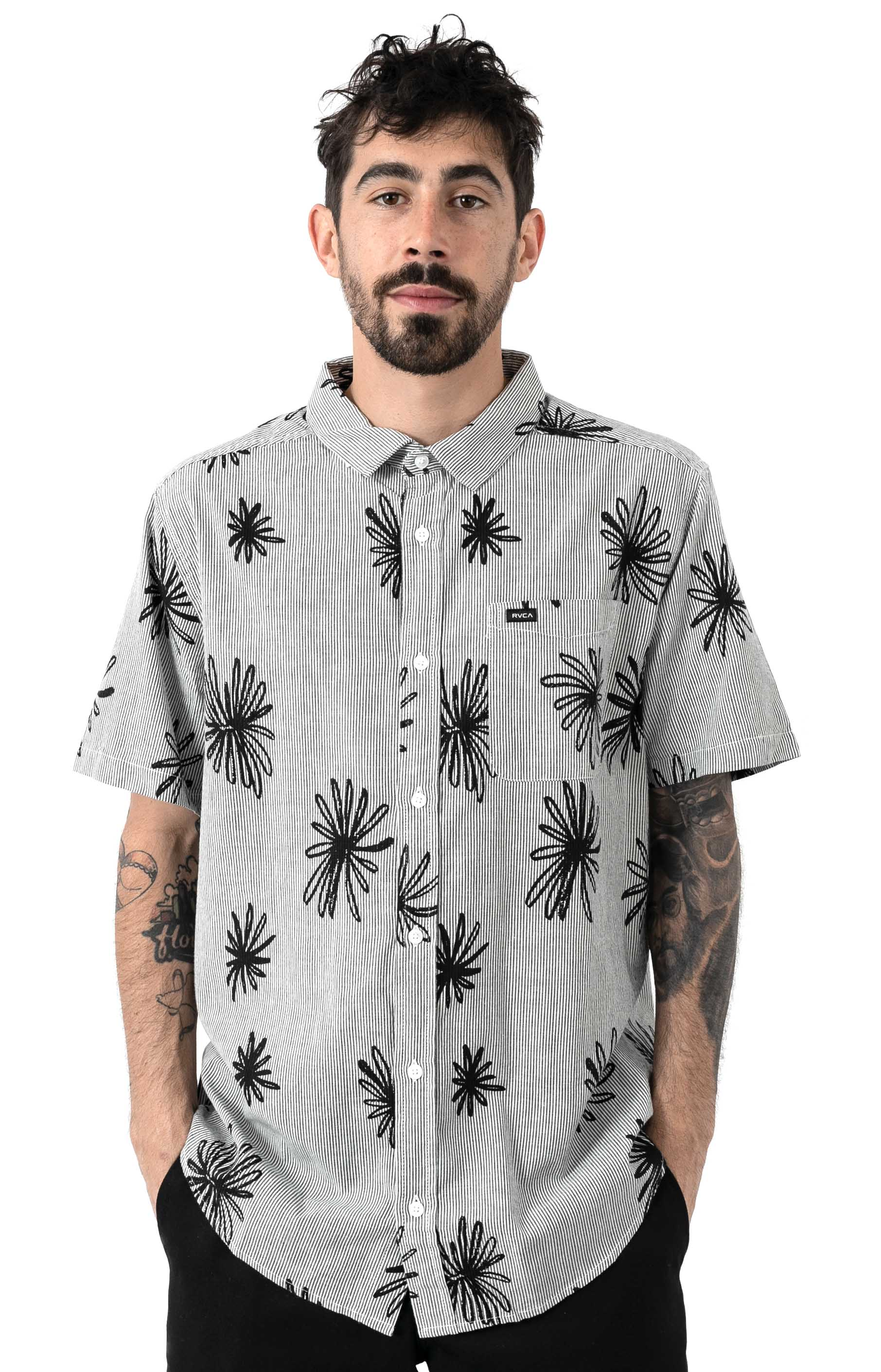 Whirl Button-Up Flannel Shirt - Black