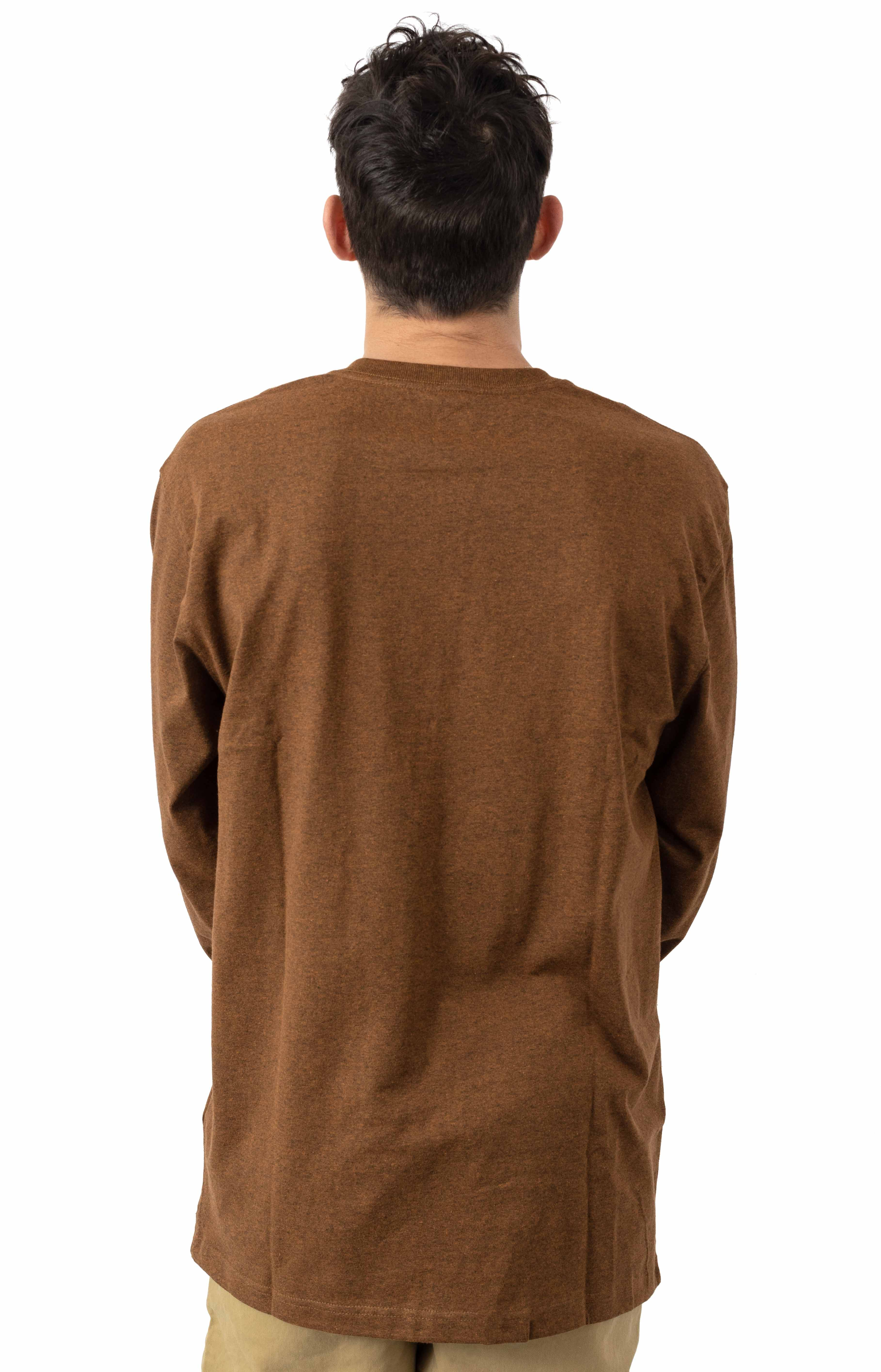 (K231) Signature Sleeve Logo L/S Shirt - Oiled Walnut Heather  3