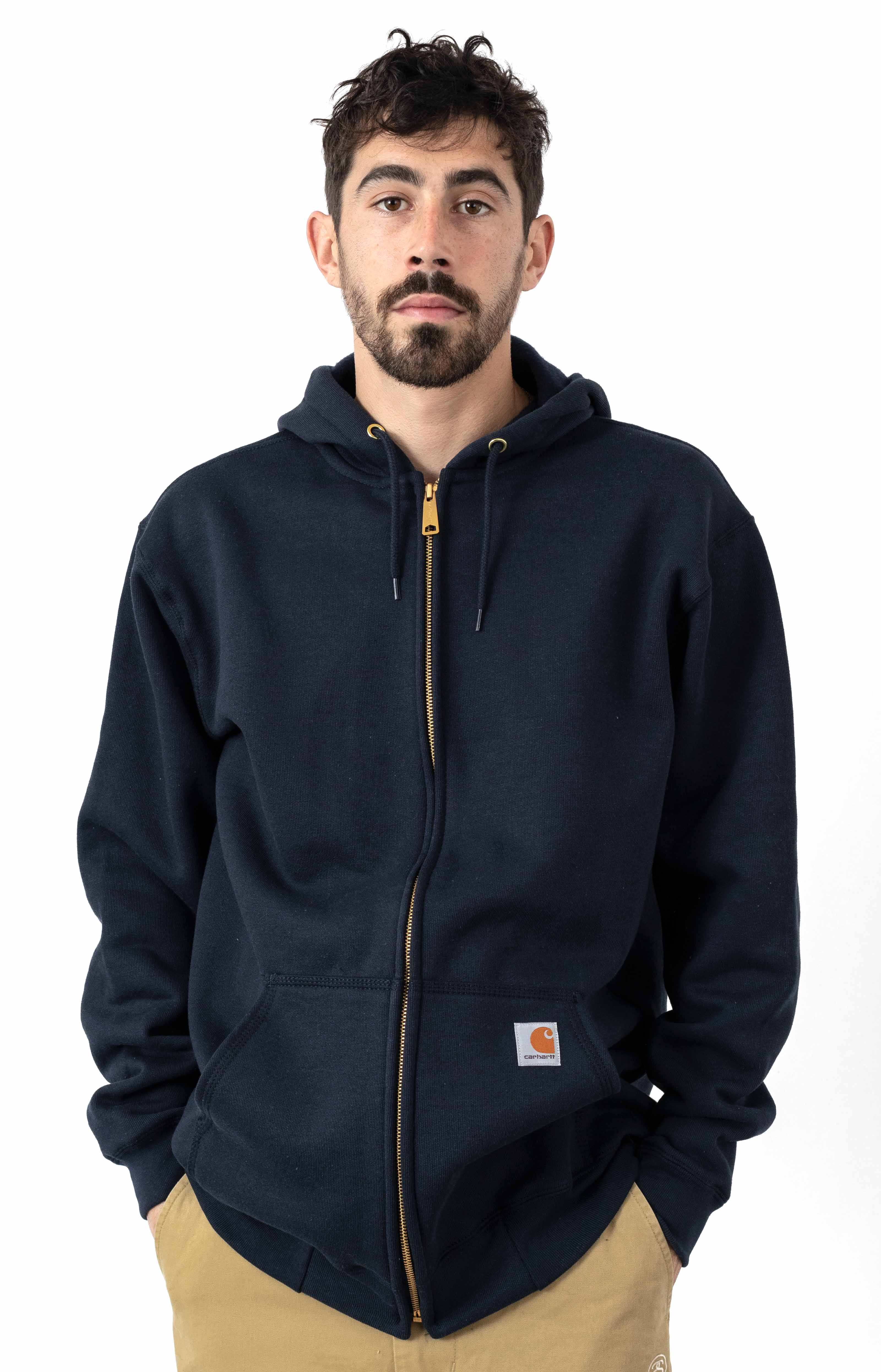 (K122) Midweight Zip-Up Hoodie - New Navy
