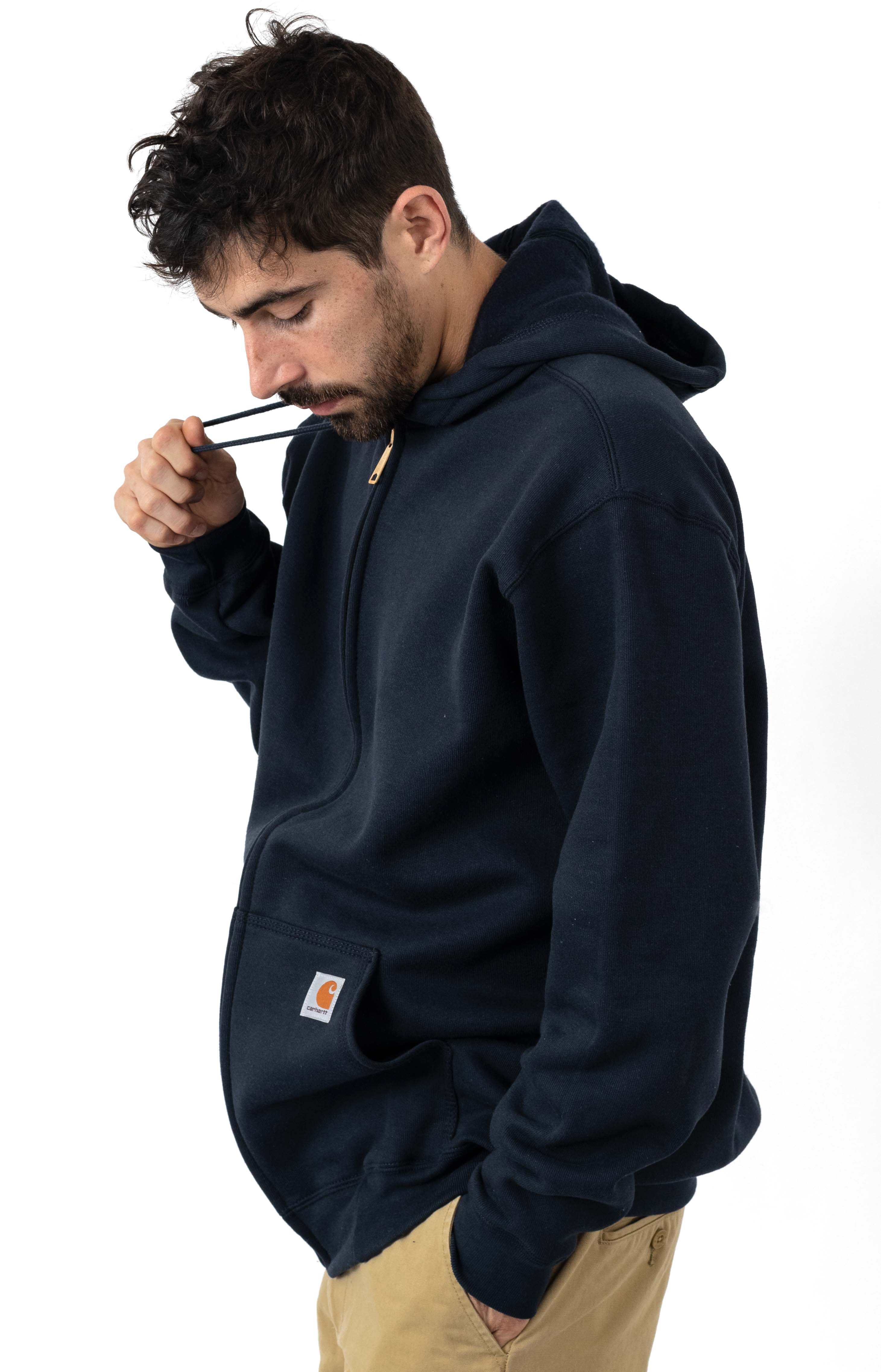 (K122) Midweight Zip-Up Hoodie - New Navy 2