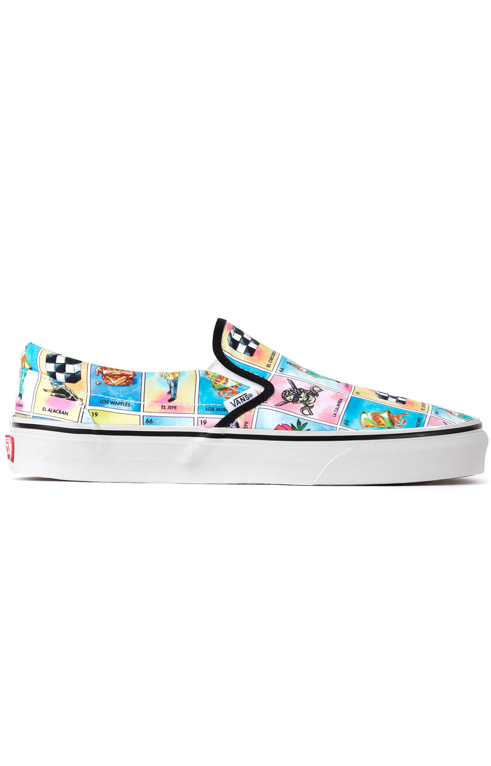 (U38WN1) Los Vans Classic Slip-On Shoes - Multi/True White