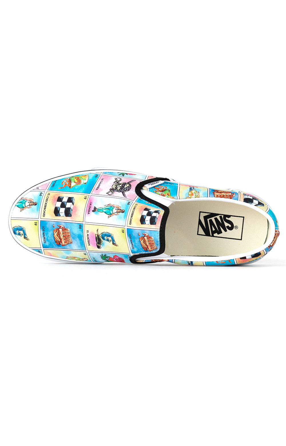 (U38WN1) Los Vans Classic Slip-On Shoes - Multi/True White  2