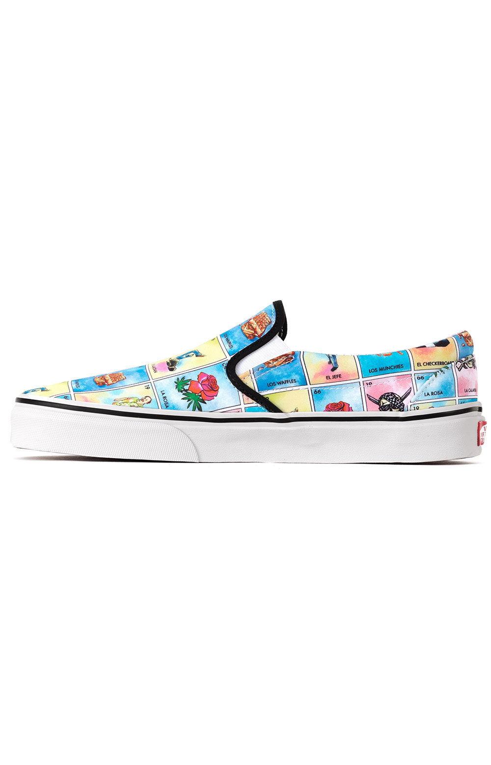 (U38WN1) Los Vans Classic Slip-On Shoes - Multi/True White  4