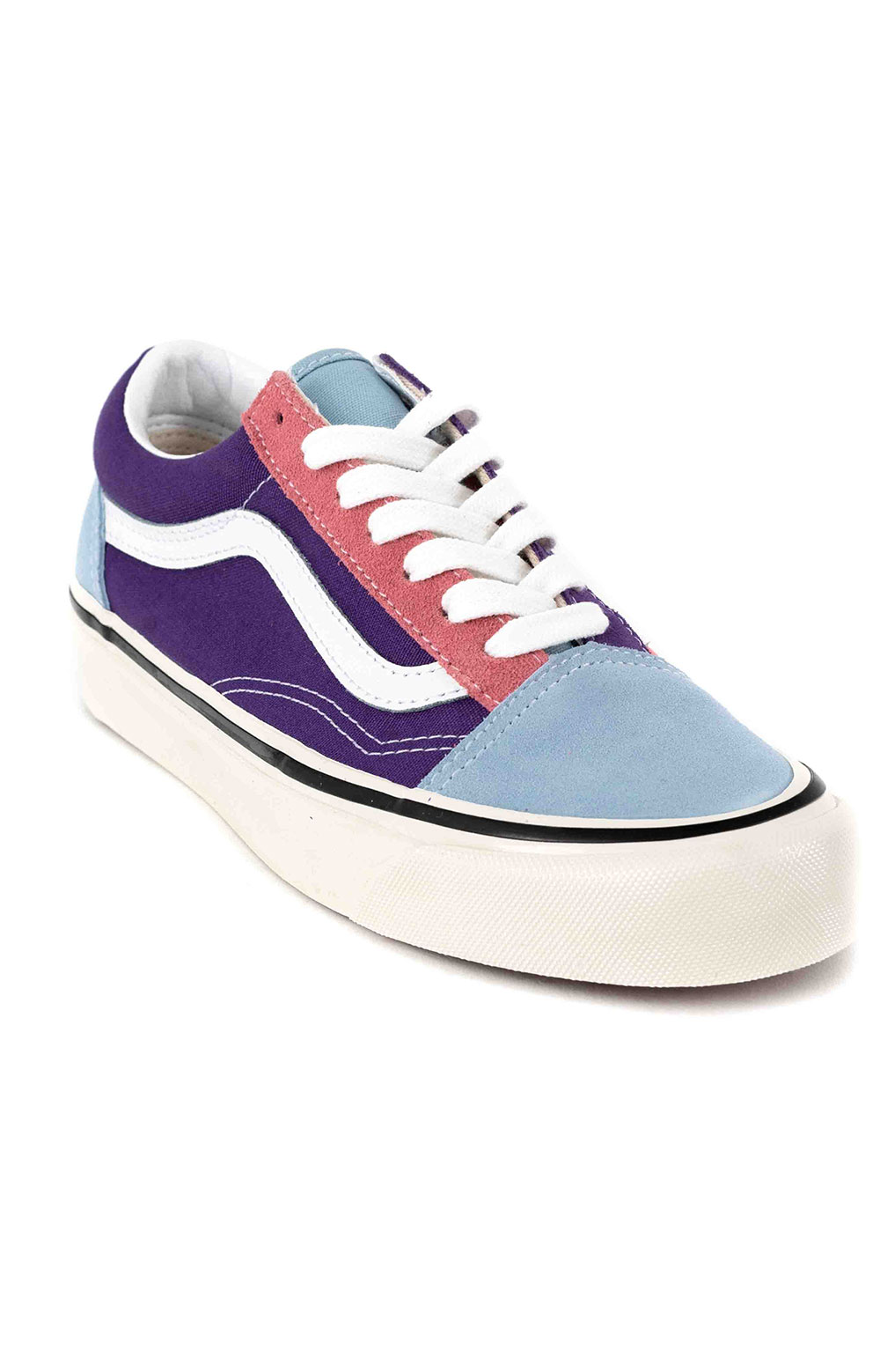 (8G2XFL) Anaheim Factory Old Skool 36 DX Shoes - OG Light Blue/OG Purple/OG Pink 3
