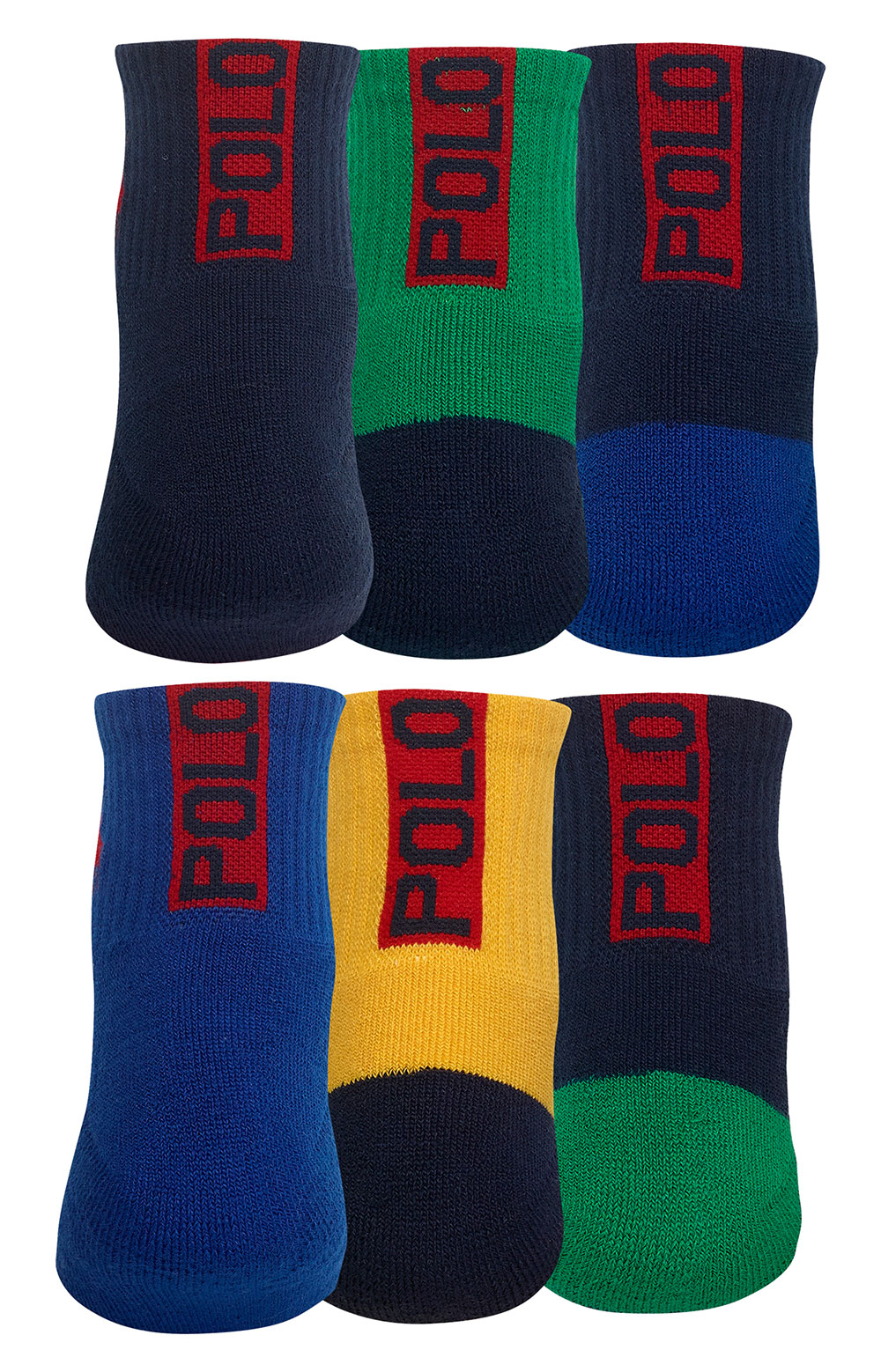 Colorblock Cushioned Crew Socks - 6 Pack 3